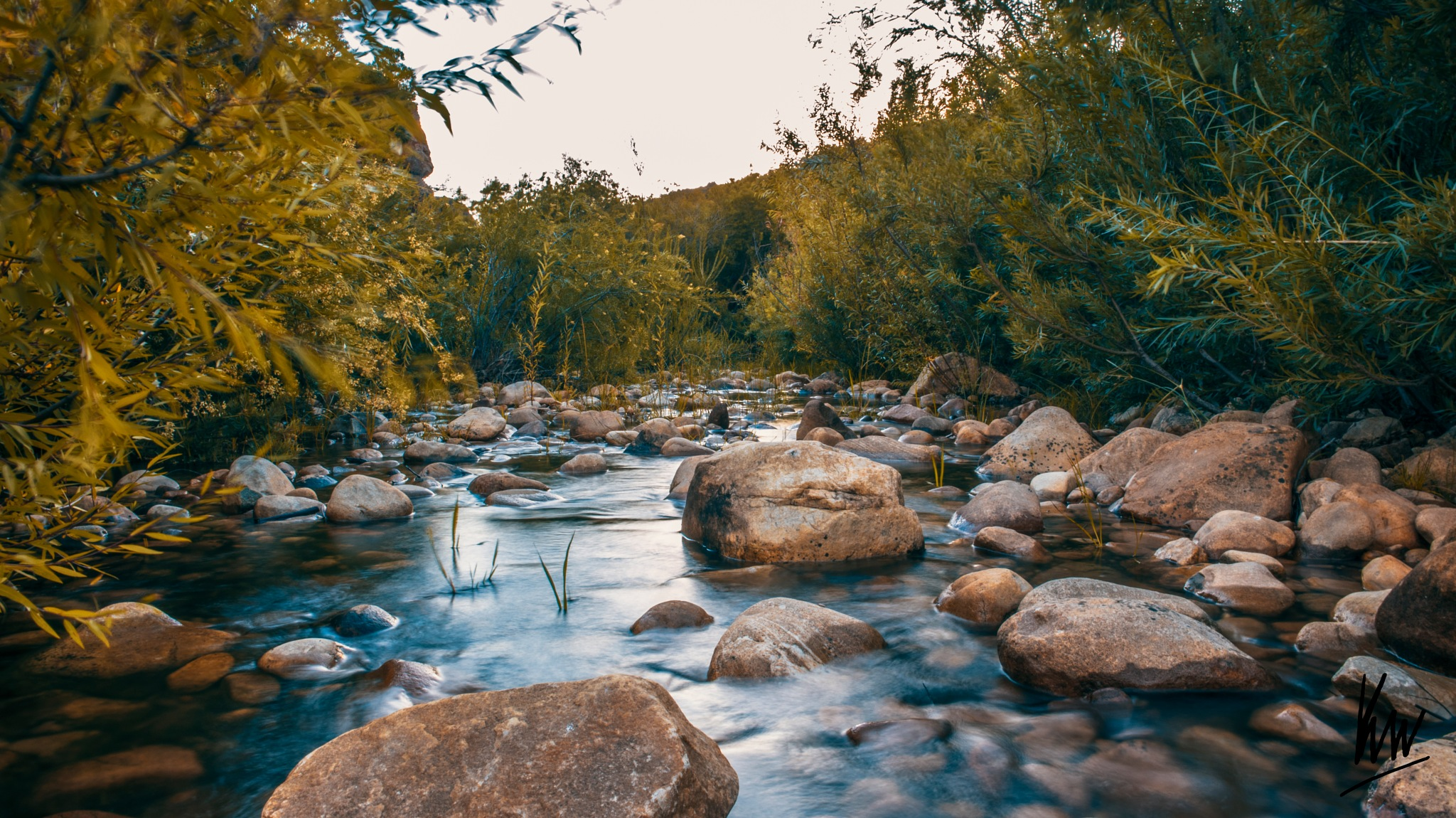 Autumn River by Ken Ward