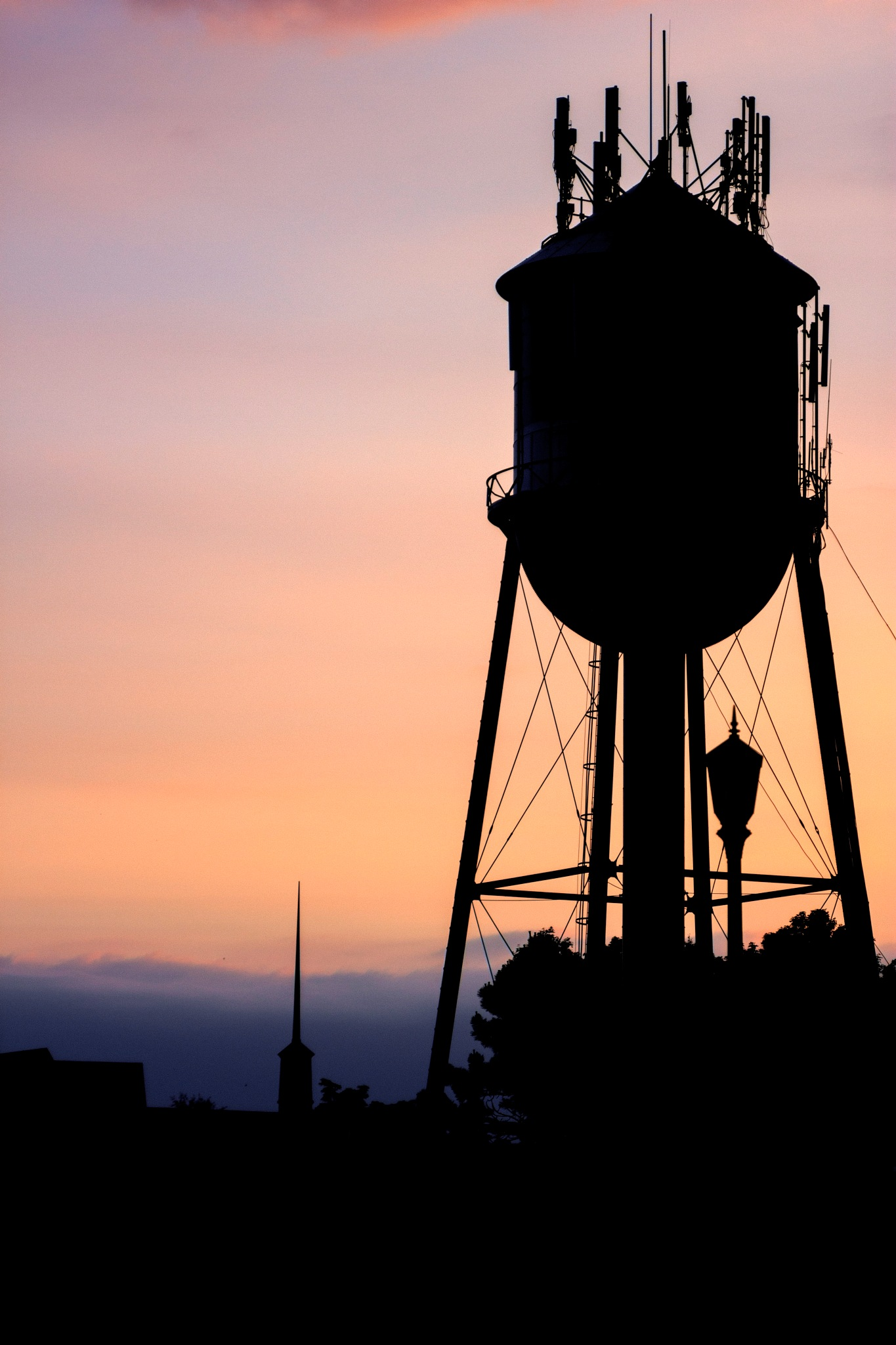 Water Tower Sunrise by Ethan Treadwell
