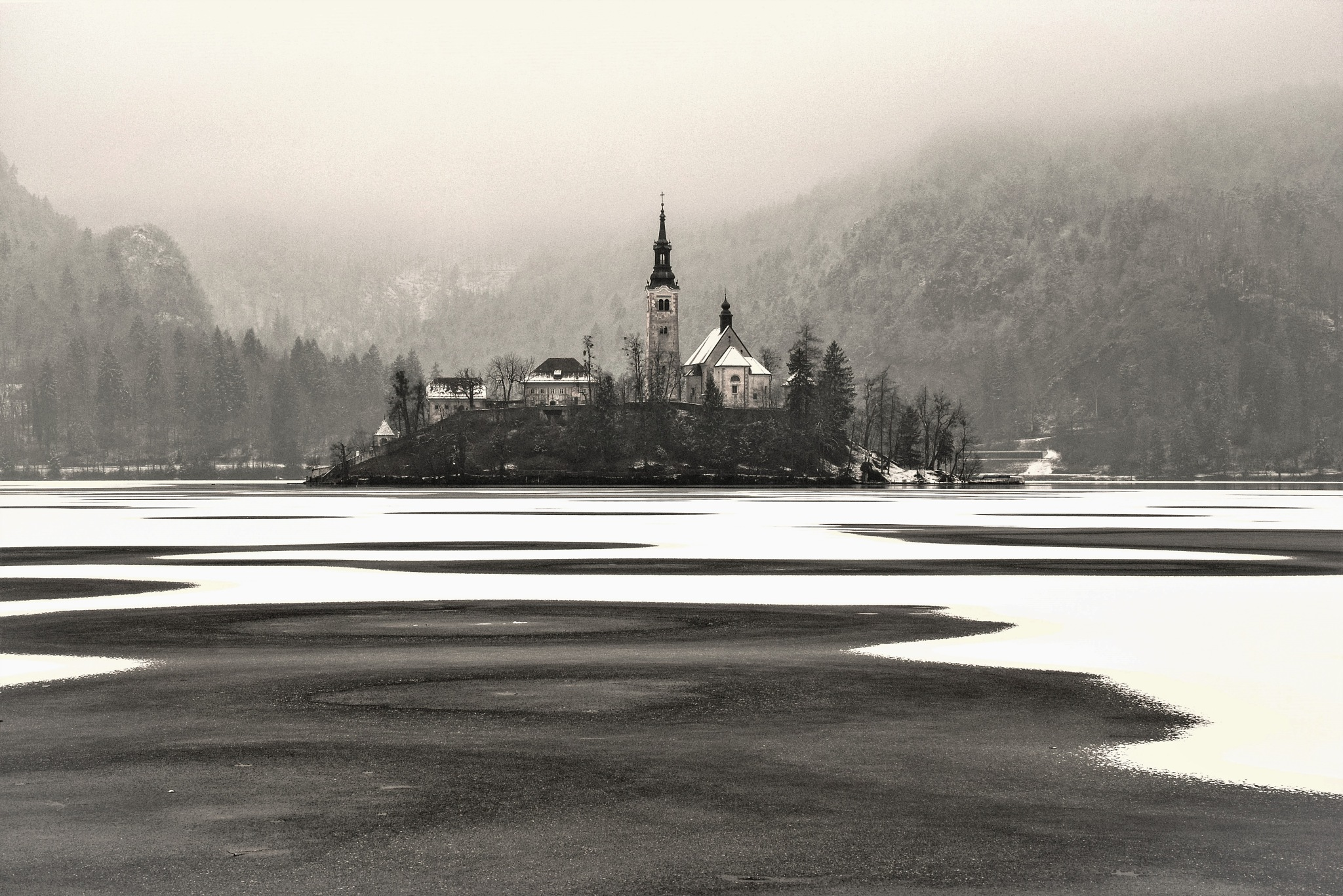 Frozen island by Alexander