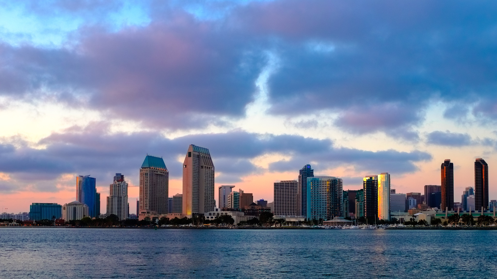 San Diego Skyline by Hansel Tjia