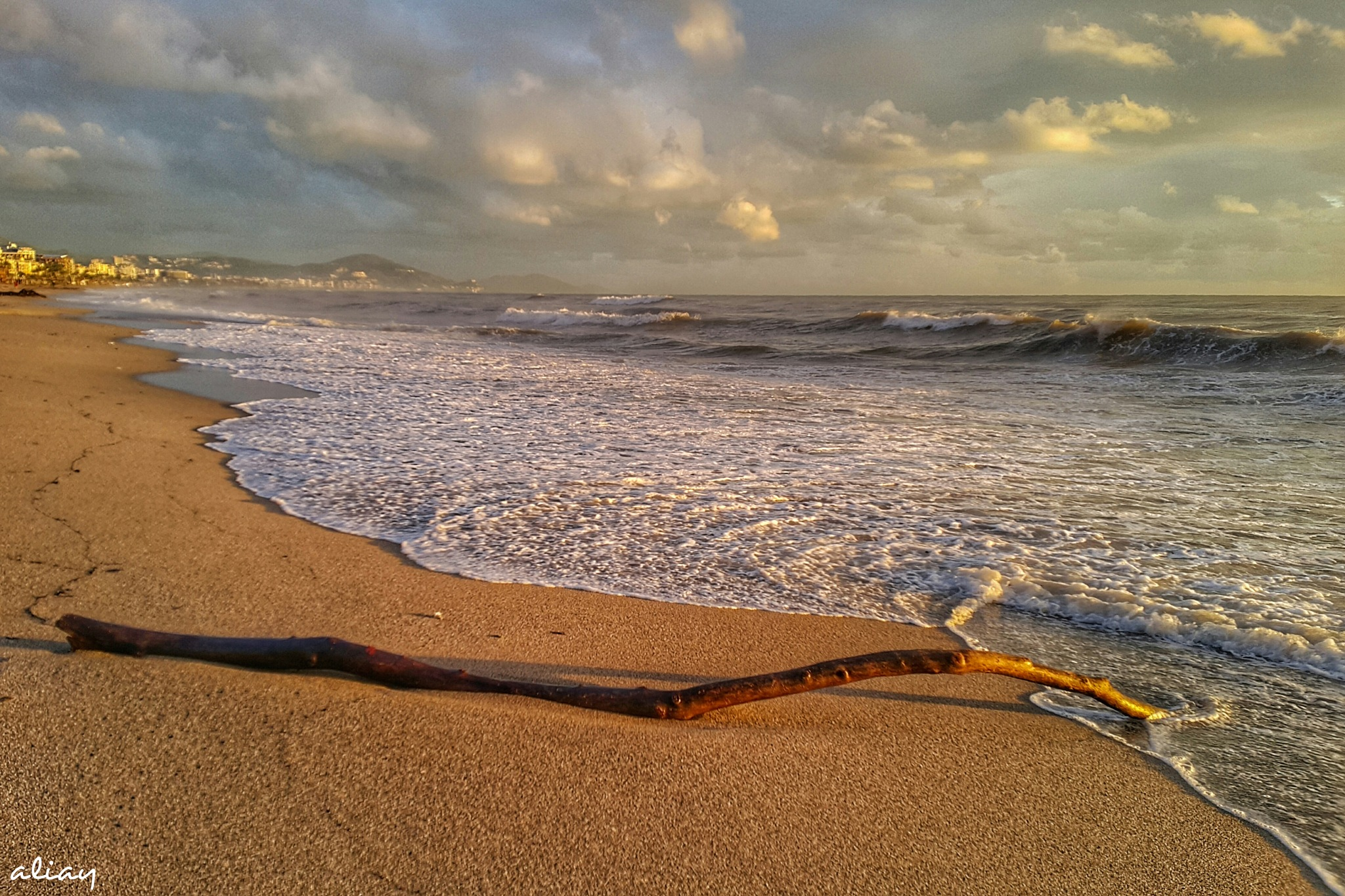 Photo in Sea and Sand #nature #sunset #waves #seasand #hdr #alanya