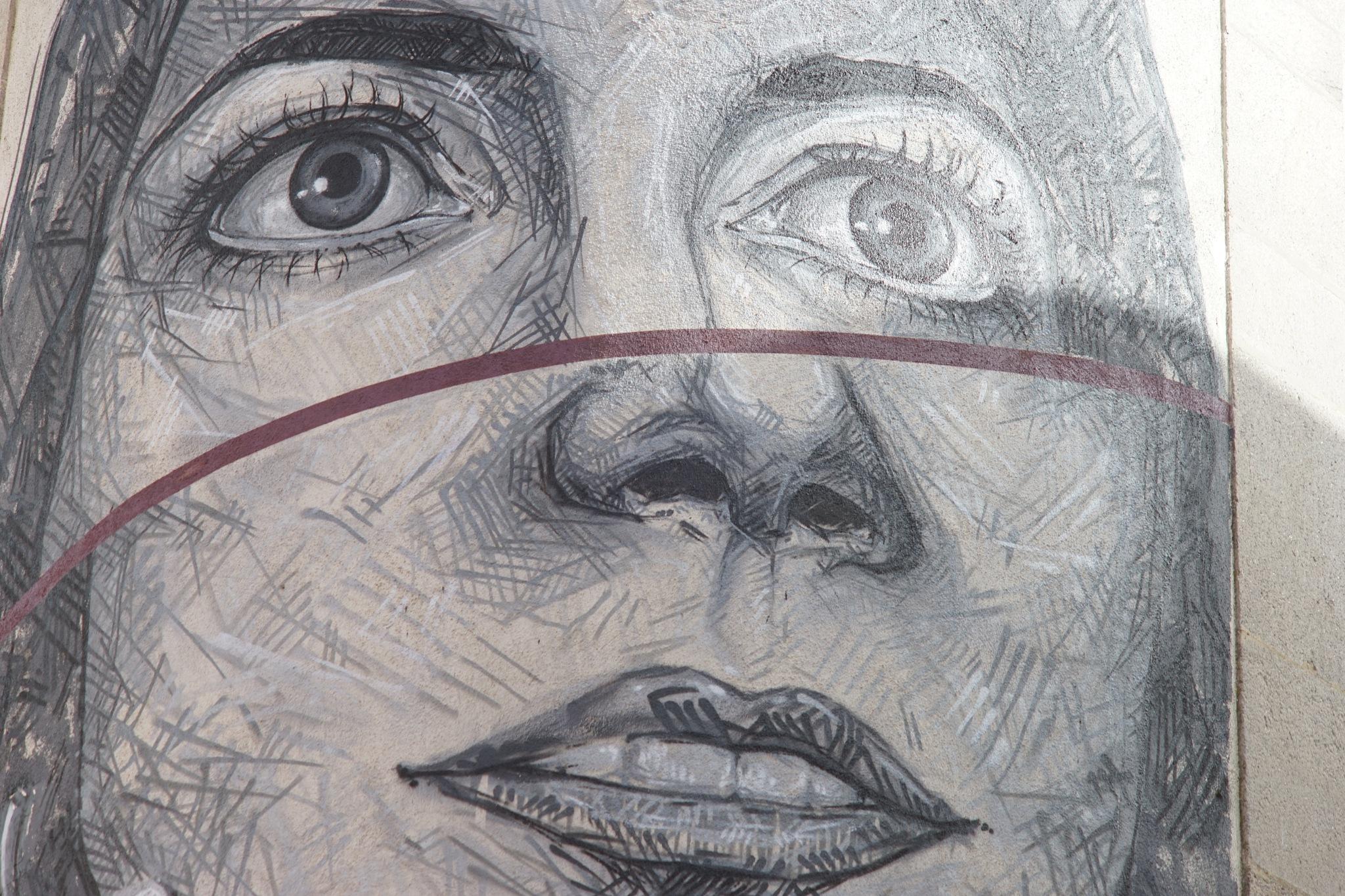 wall graffiti art by Pedro Valente