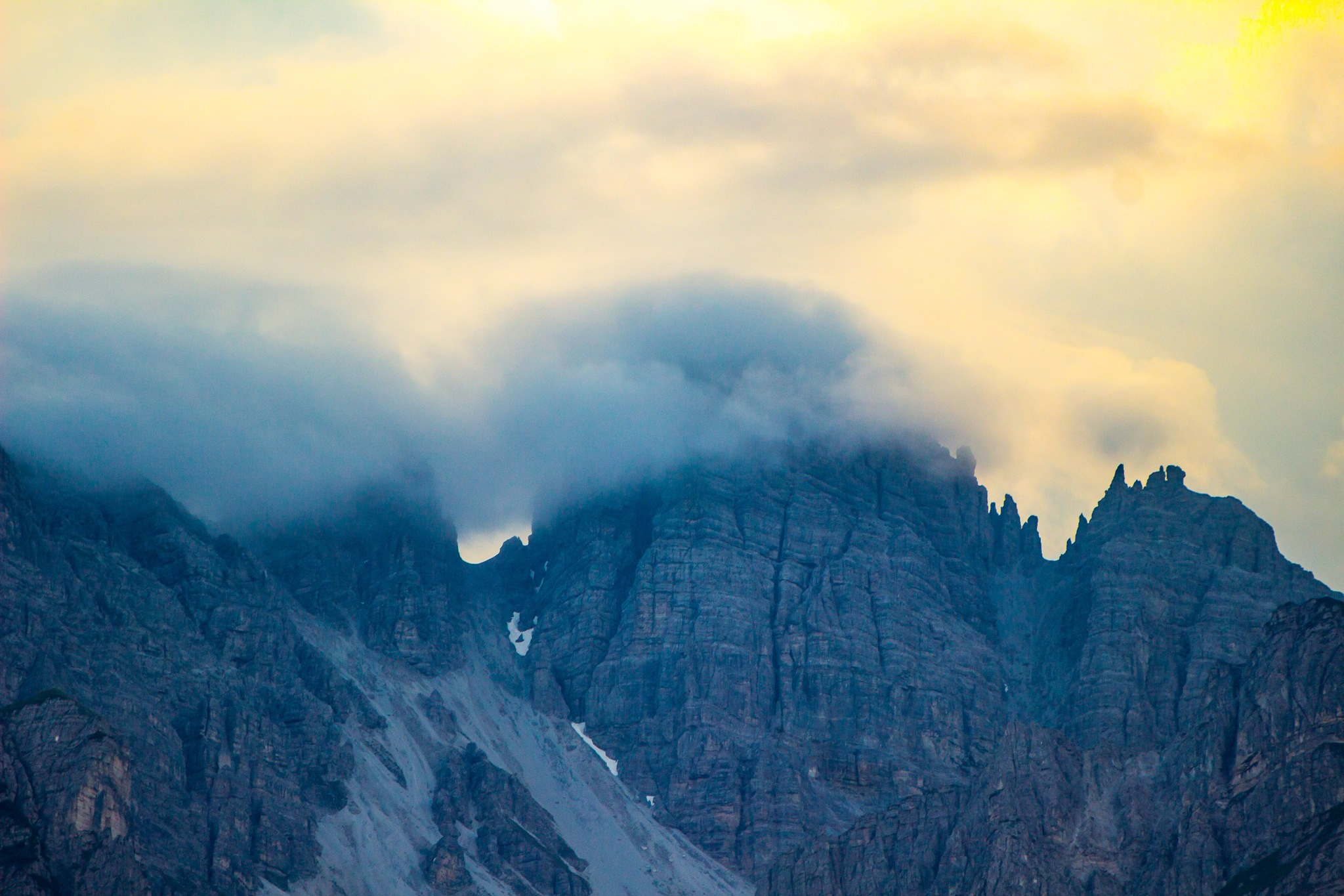 alps in clouds by Alexander Magerl