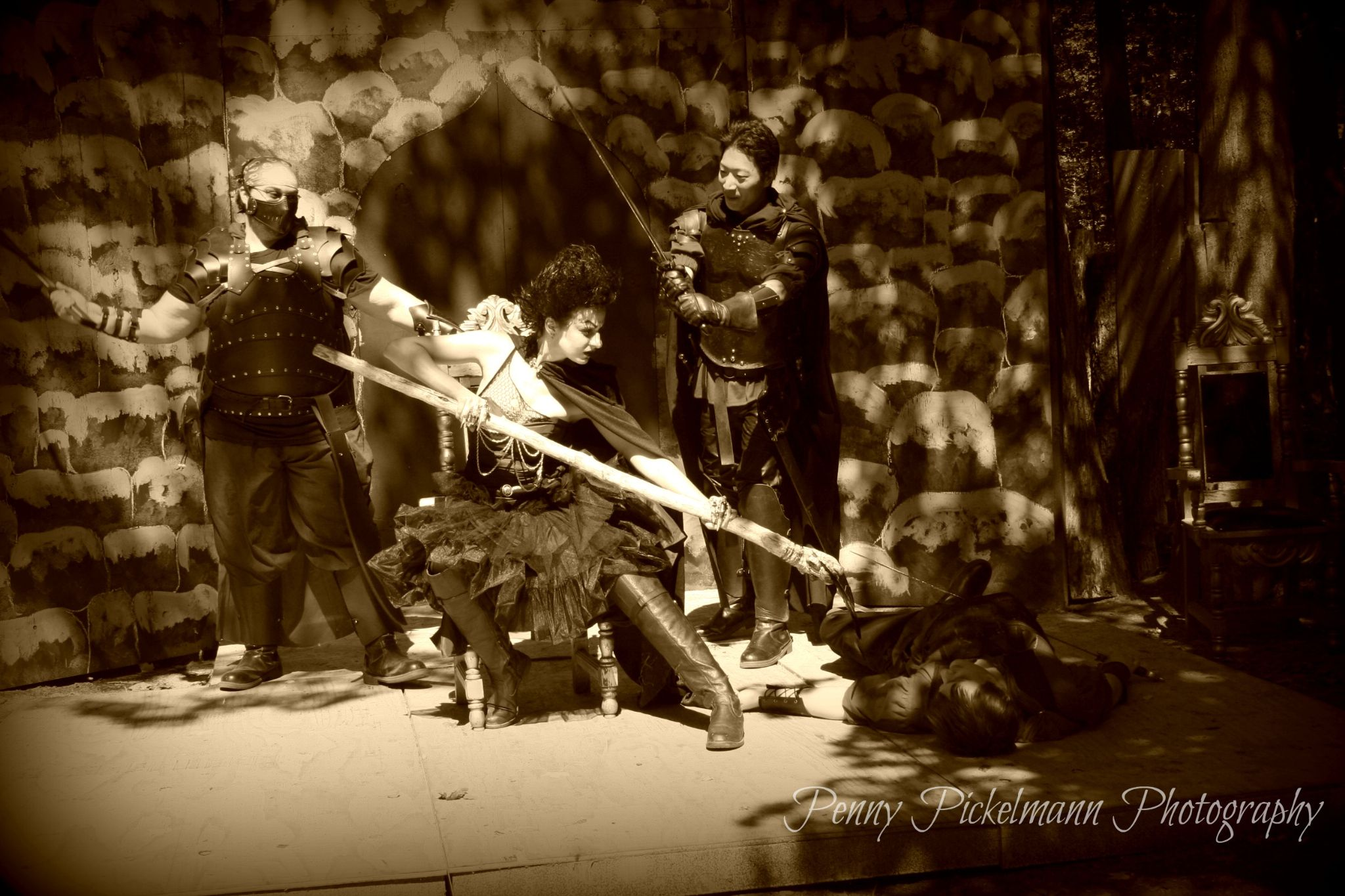 Sepia Wicked Queen and Queens guardsmen by Penny Pickelmann
