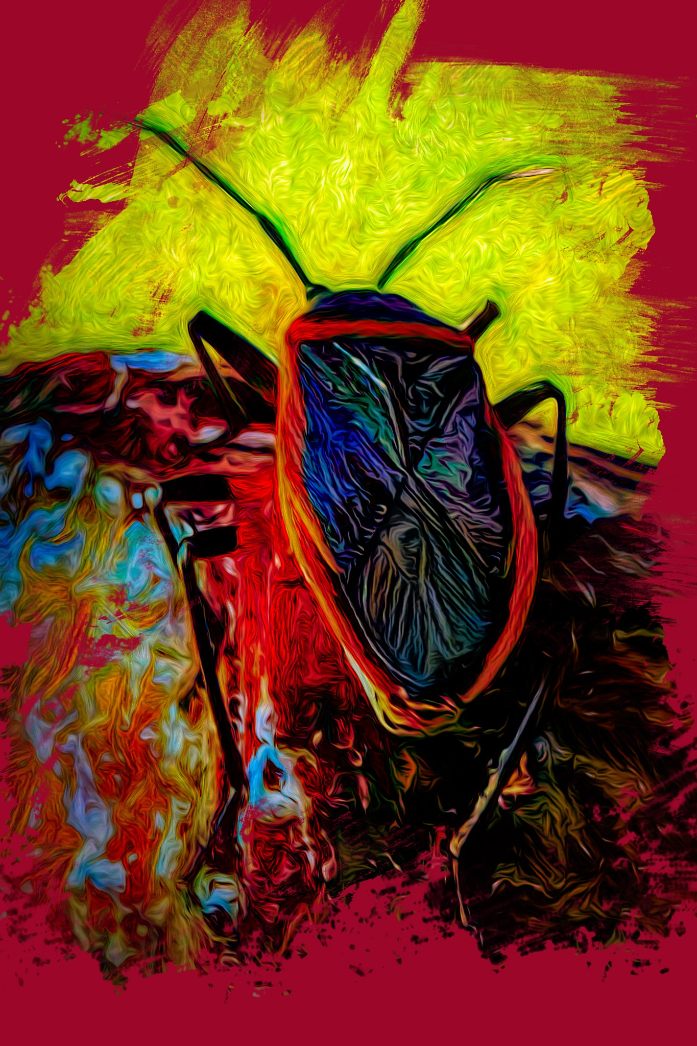 Color Blasted Insect by David Walters