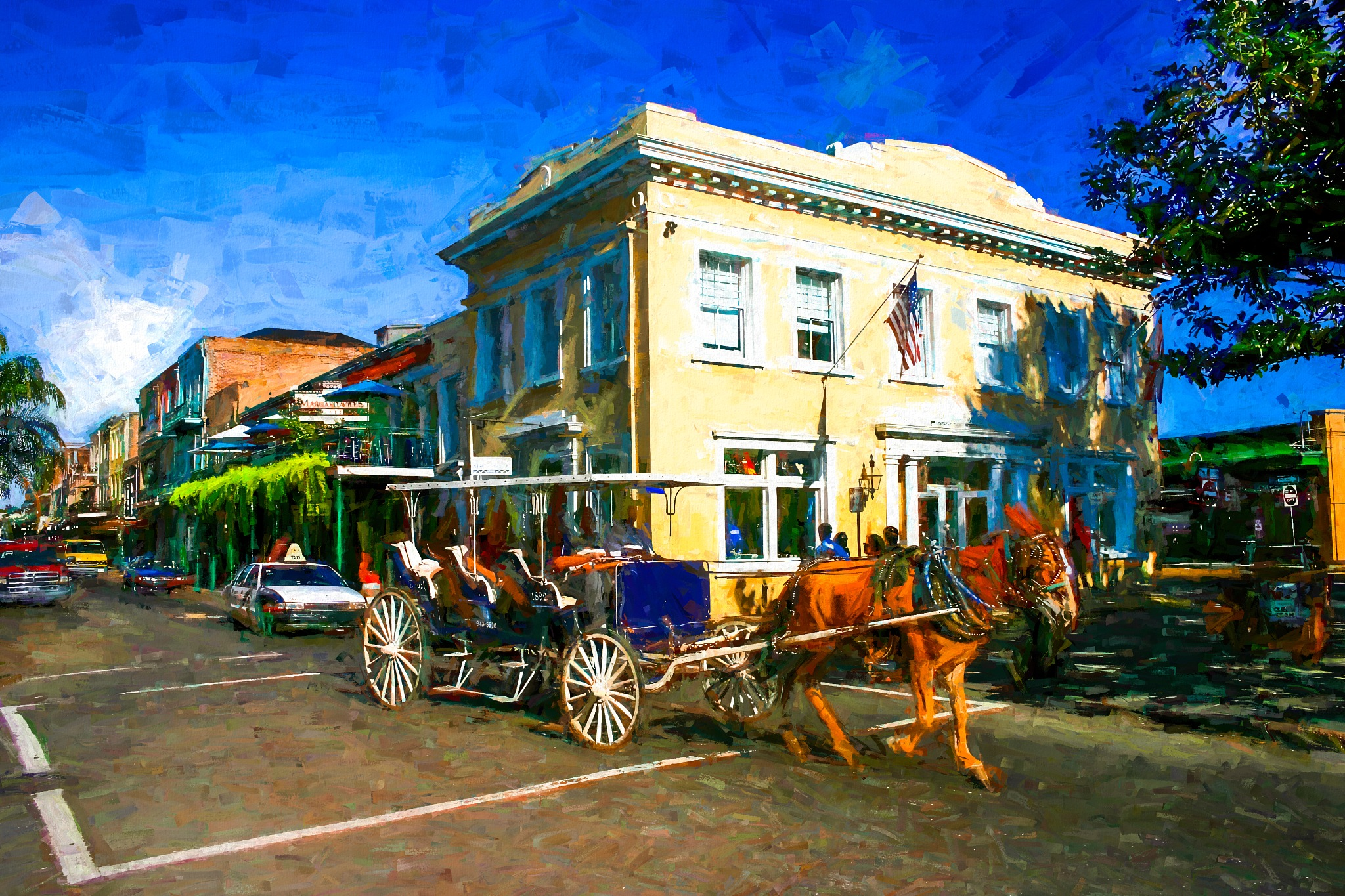 New Orleans Digital Painting by David Walters