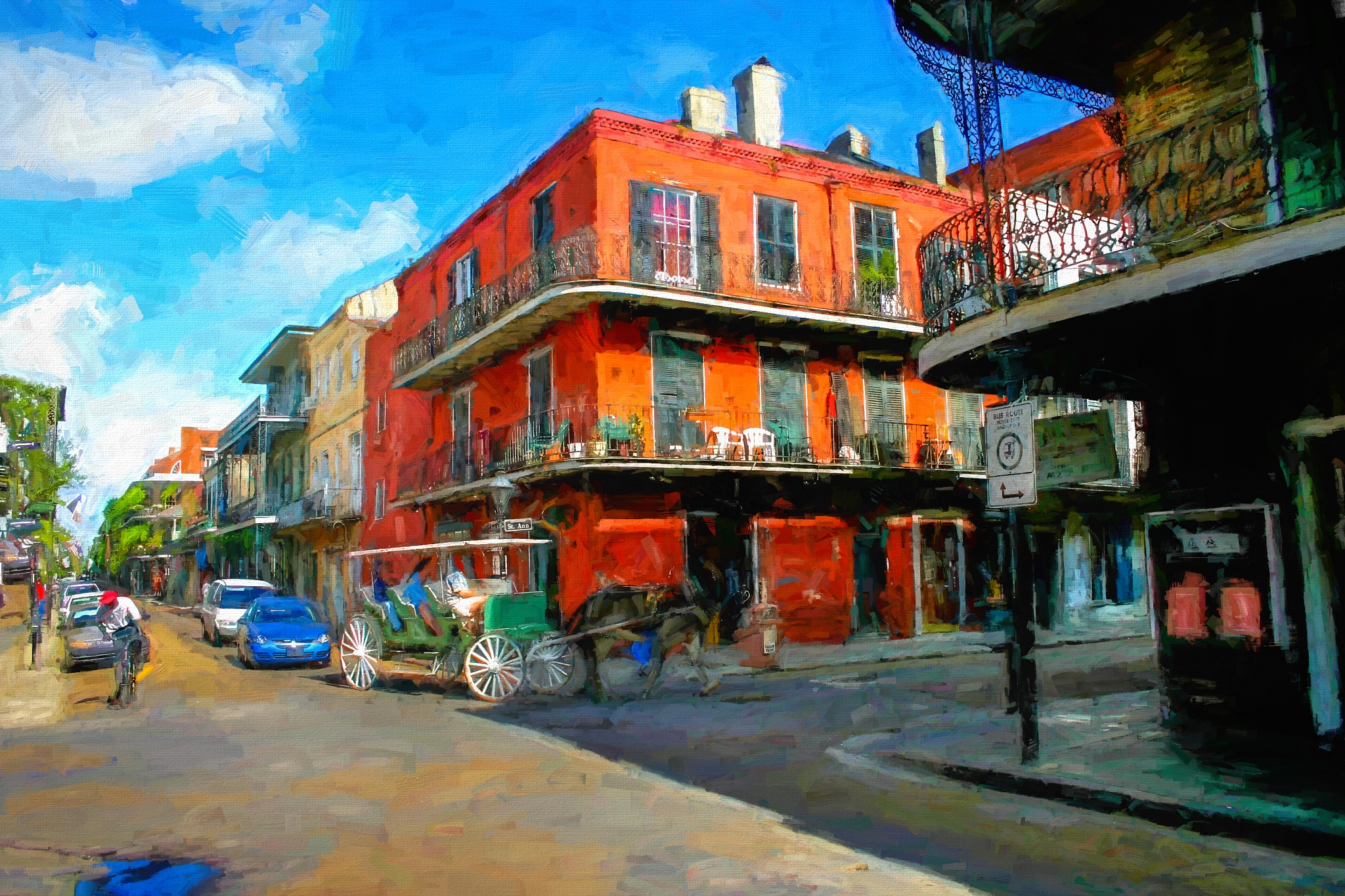 New Orleans Street Scene Painting by David Walters