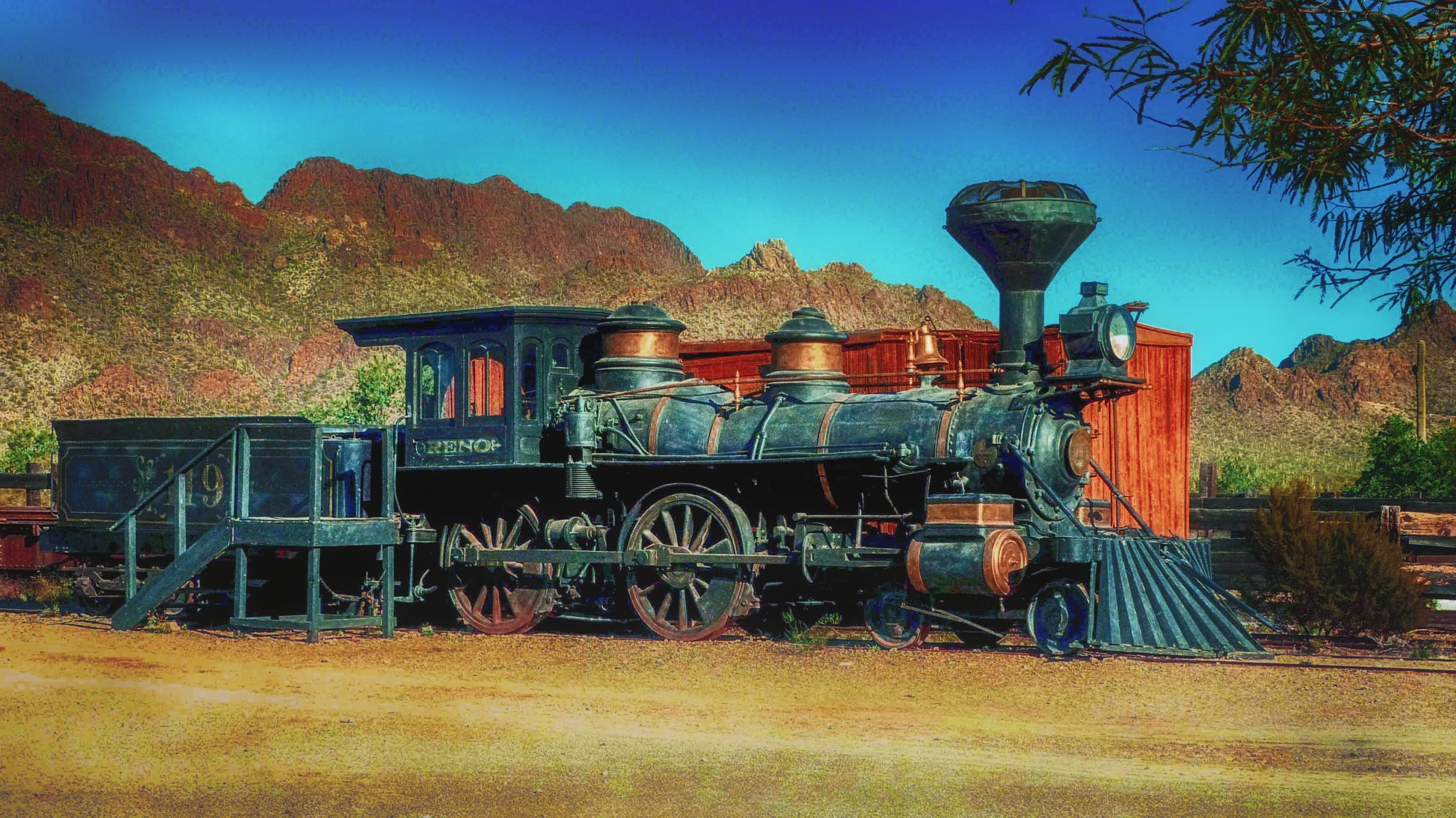 Old Tucson Train Engine by David Walters