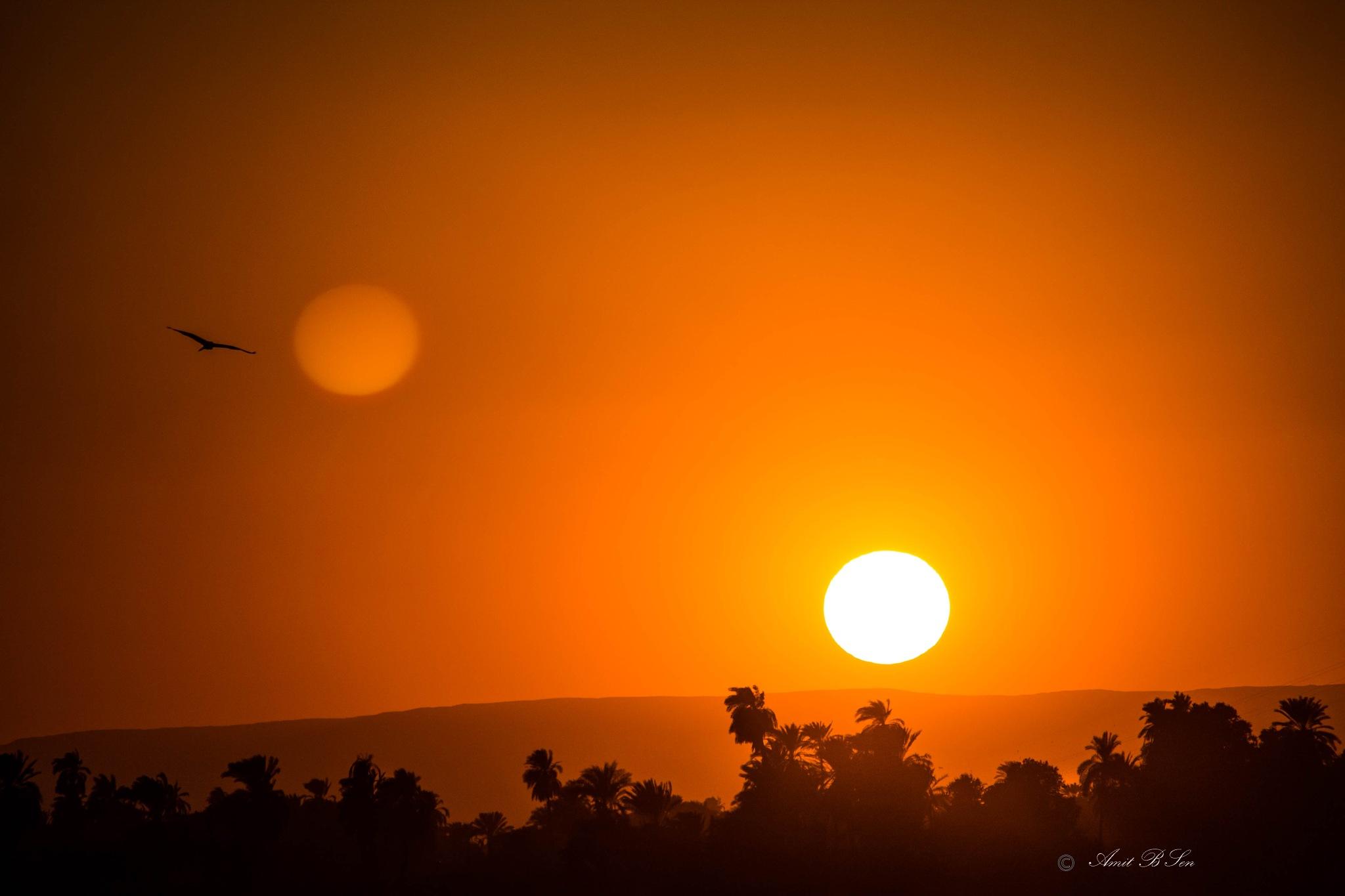 Sun set 1 by Amit Baran Sen