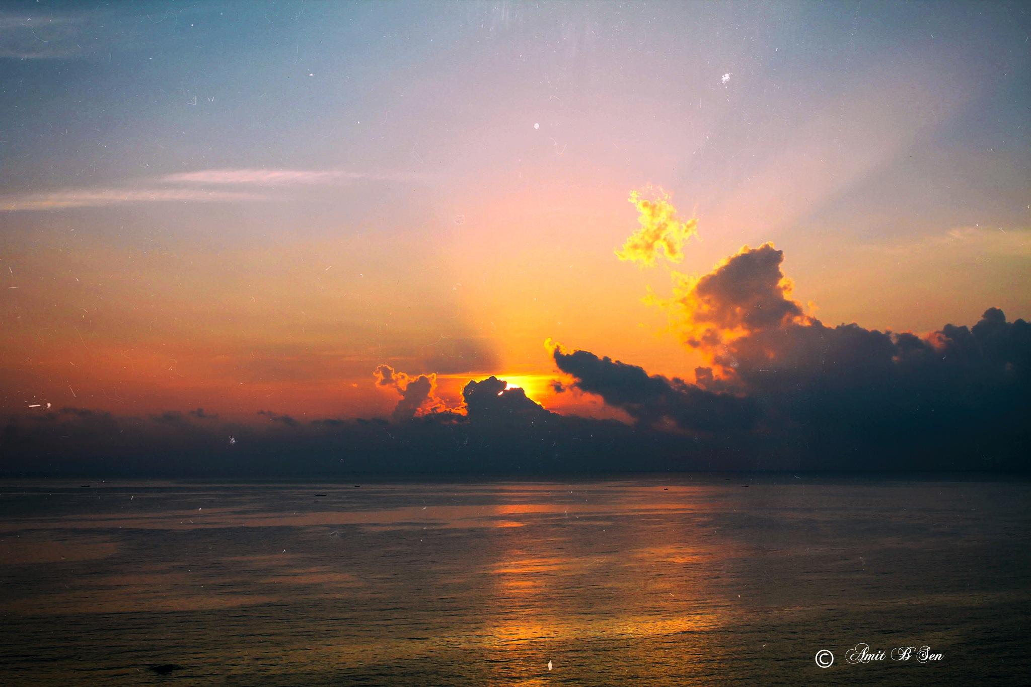 Sun Rise 1 by Amit Baran Sen
