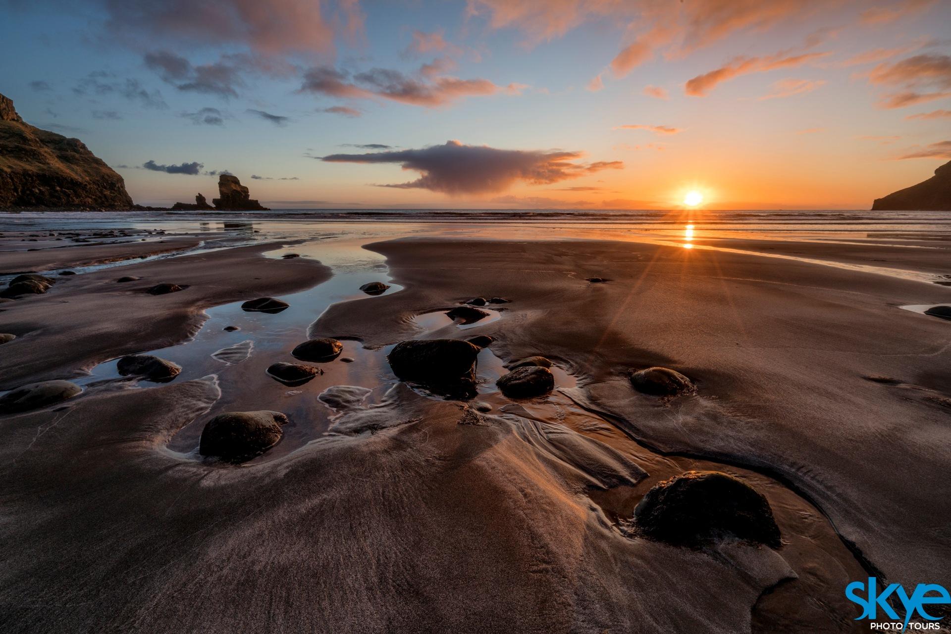Talisker Bay Sunset by Gordon Charlton