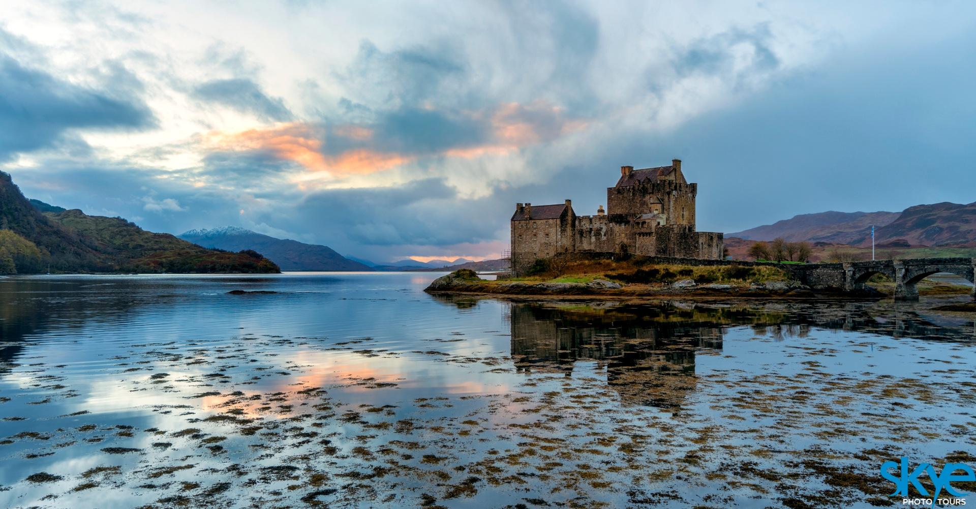 Sun Setting @ Eilean Donan Castle  by Gordon Charlton