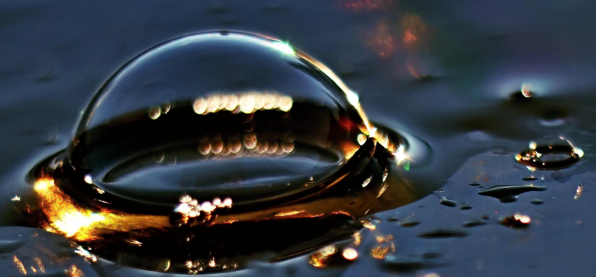 Photo in Macro #bublina #pena #svetlo #sklo #farby