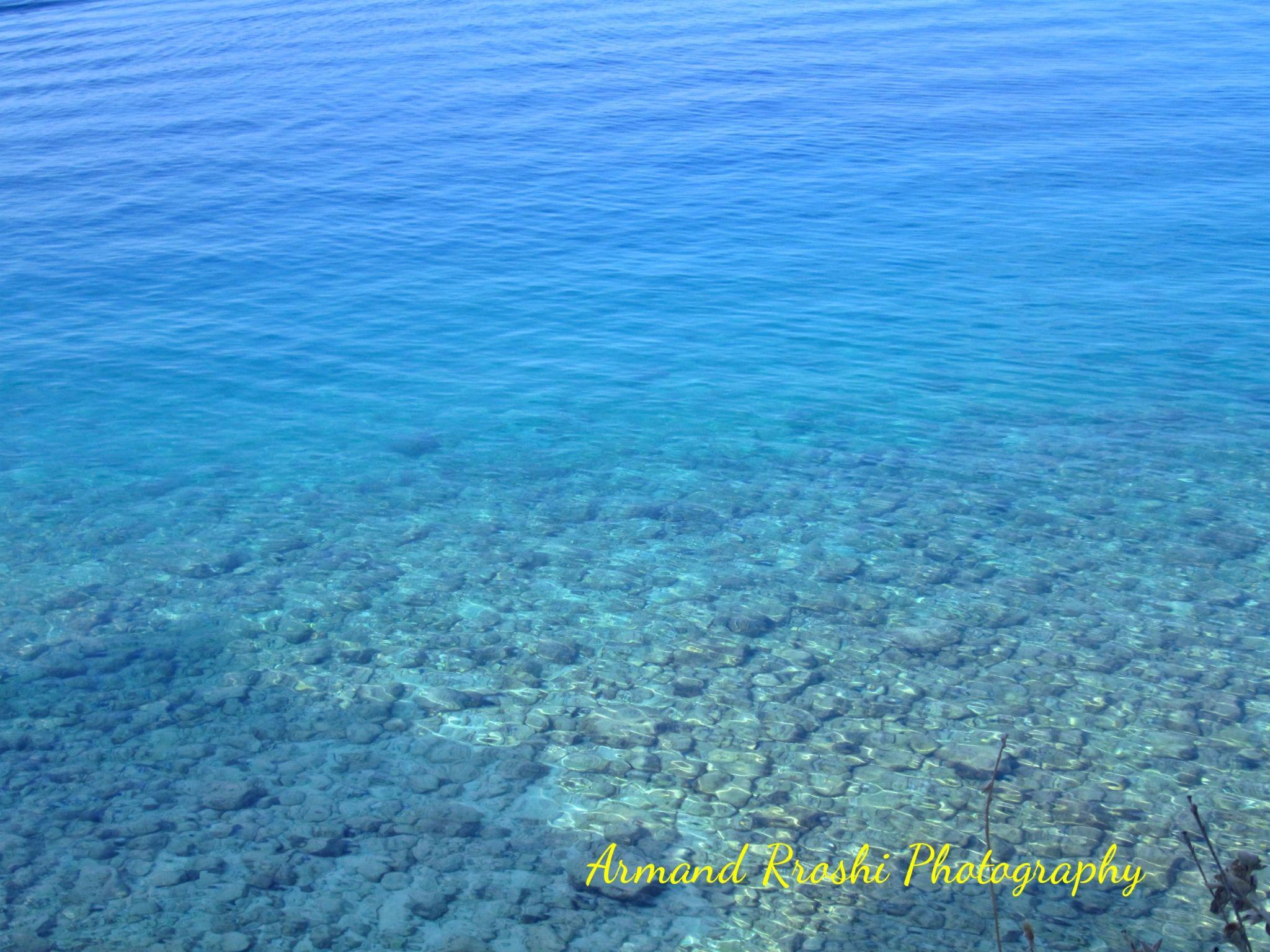 Beach of Makarska, Croatia by Armand Rroshi