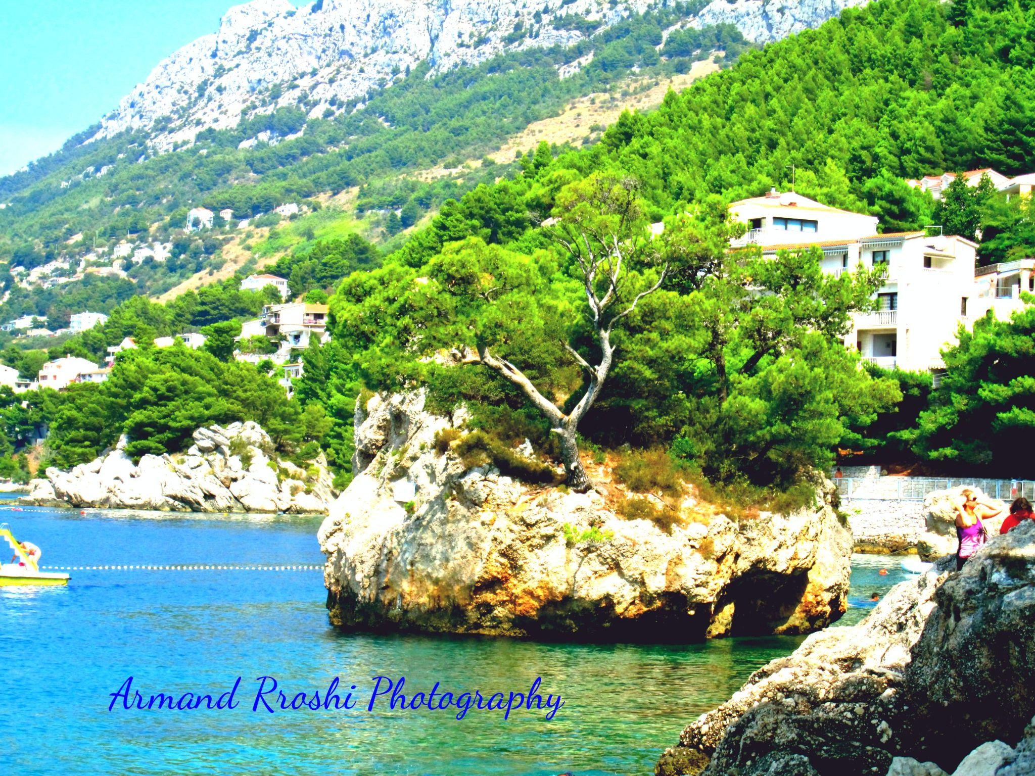 Beach of Brela, Croatia by Armand Rroshi