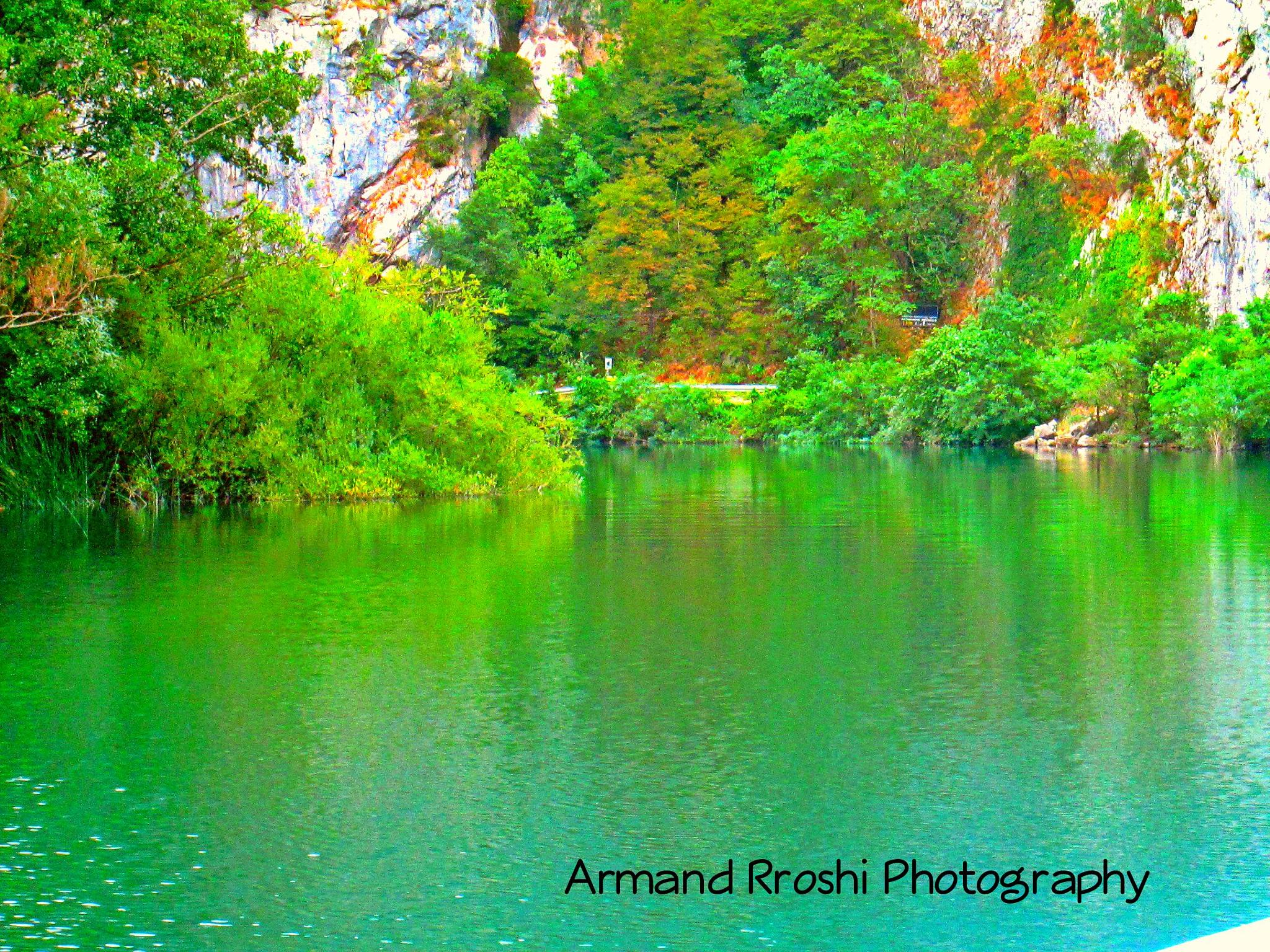 The Cetina River, Omis, Croatia  by Armand Rroshi