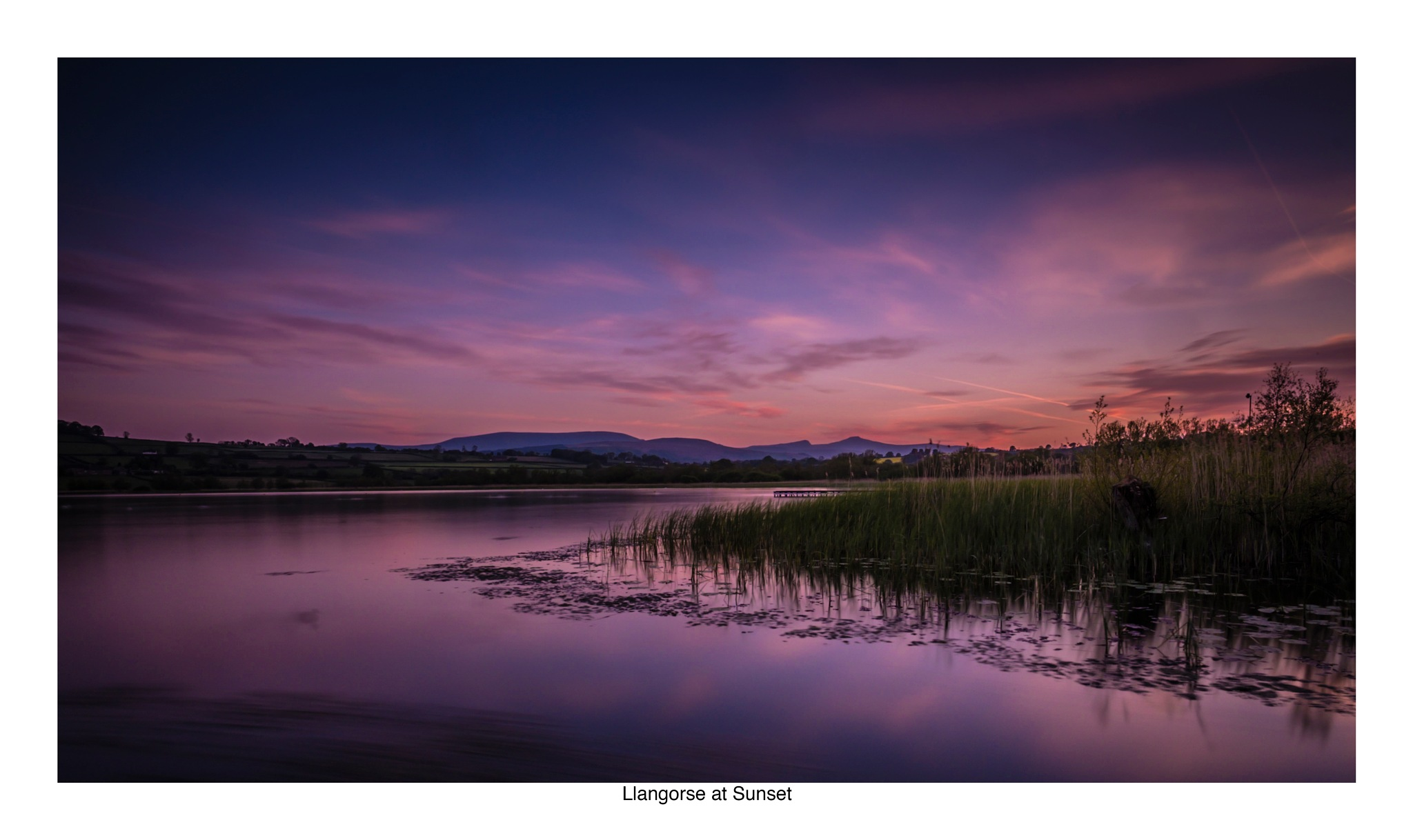 Llangorse at Sunset by Wayne Wilkins @ Creative Looks Photography