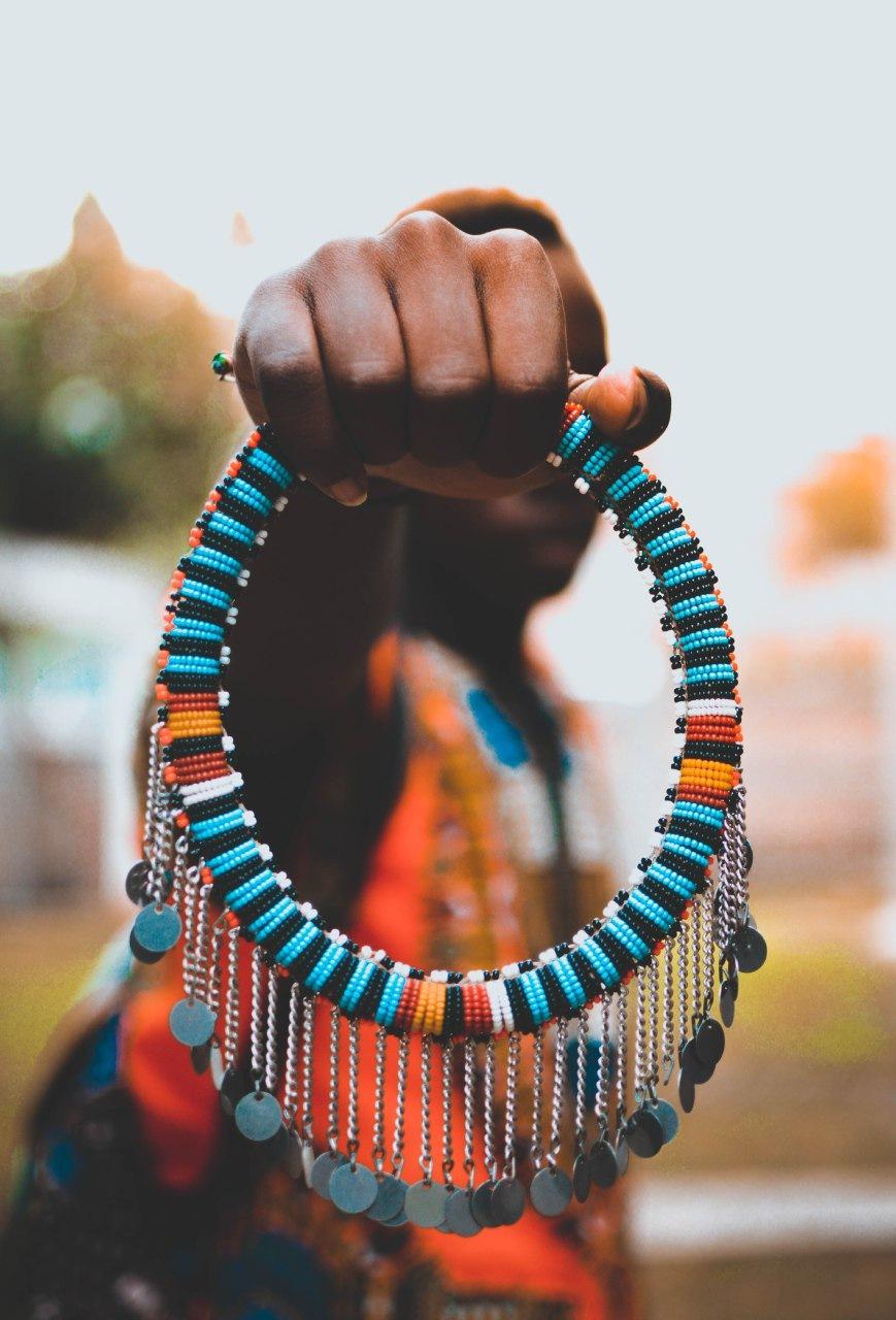 Maasai necklace by Kiptoo Koimett