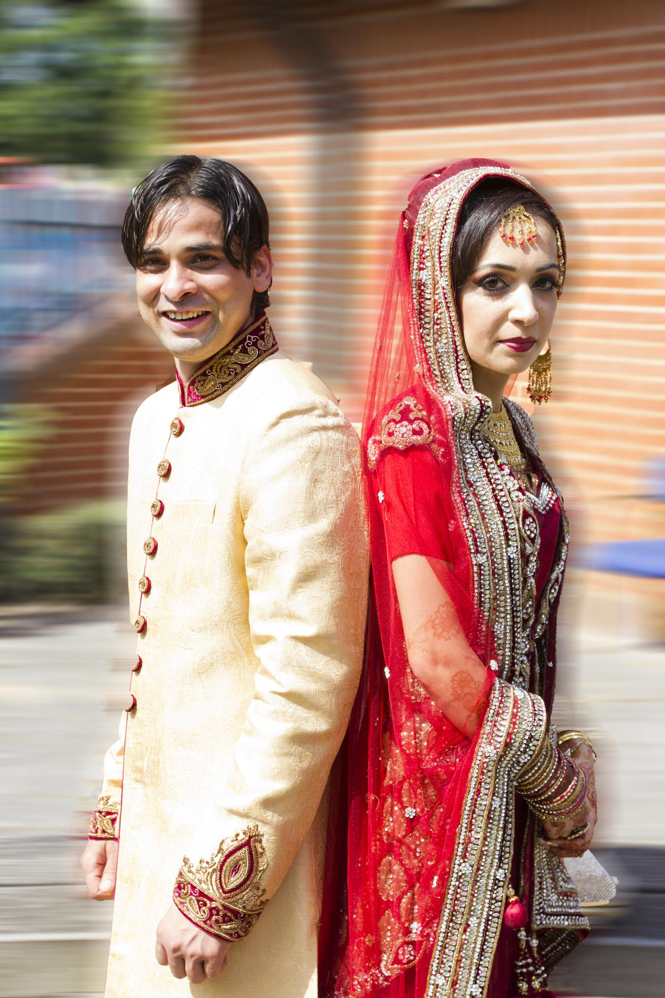 Bride and groom by Muhammad Khan