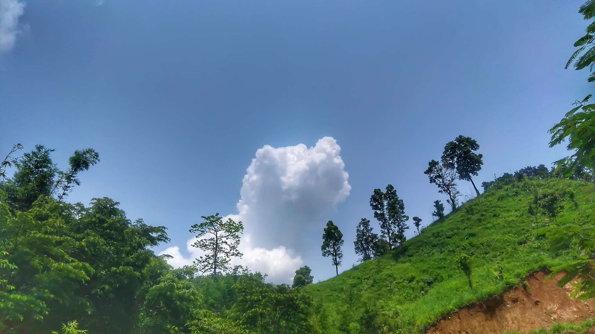 clouds and hill by Arafat Cezane
