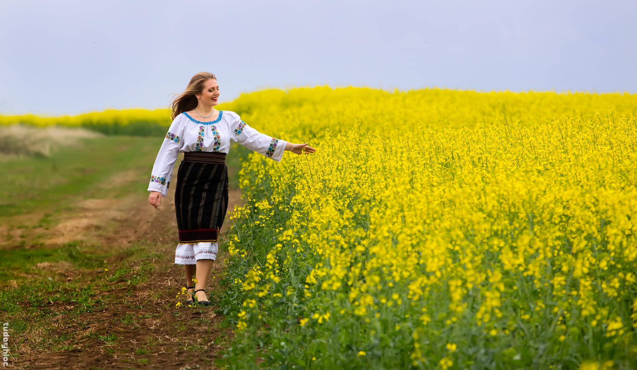 Photo in Rural #romania #tradition #culture #girl #spring