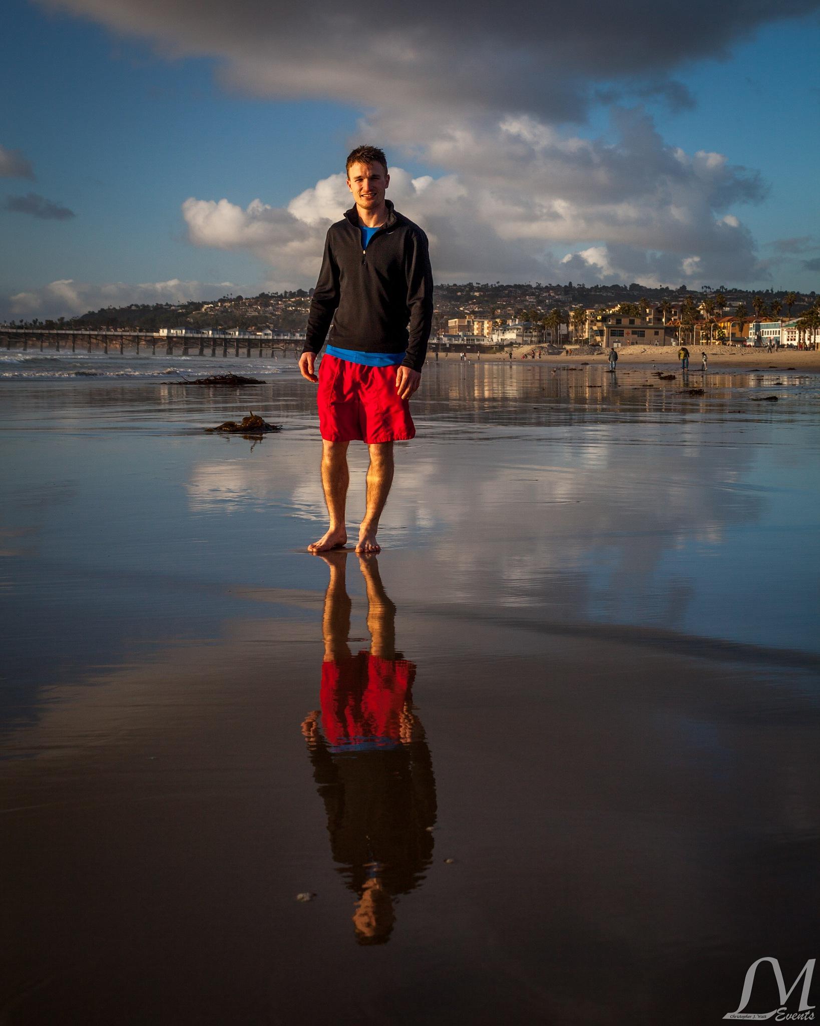 Pacific Beach Reflection by Chris Watt