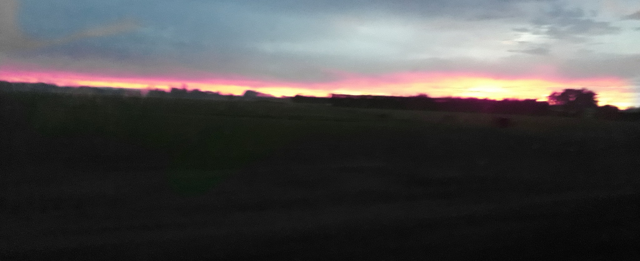 Red sky on way to school by Chanel Hall