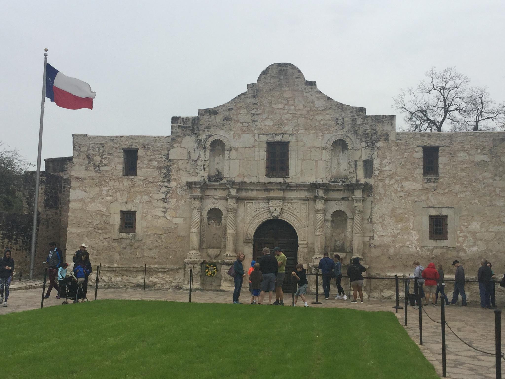 The Alamo San Antonio Texas  by Bertha Aguero