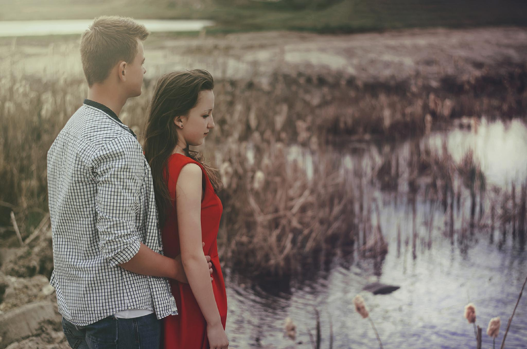 Photo in People #love #date #pair #relations #boyfriend #girlfriend #sun #lovers #poland #dates