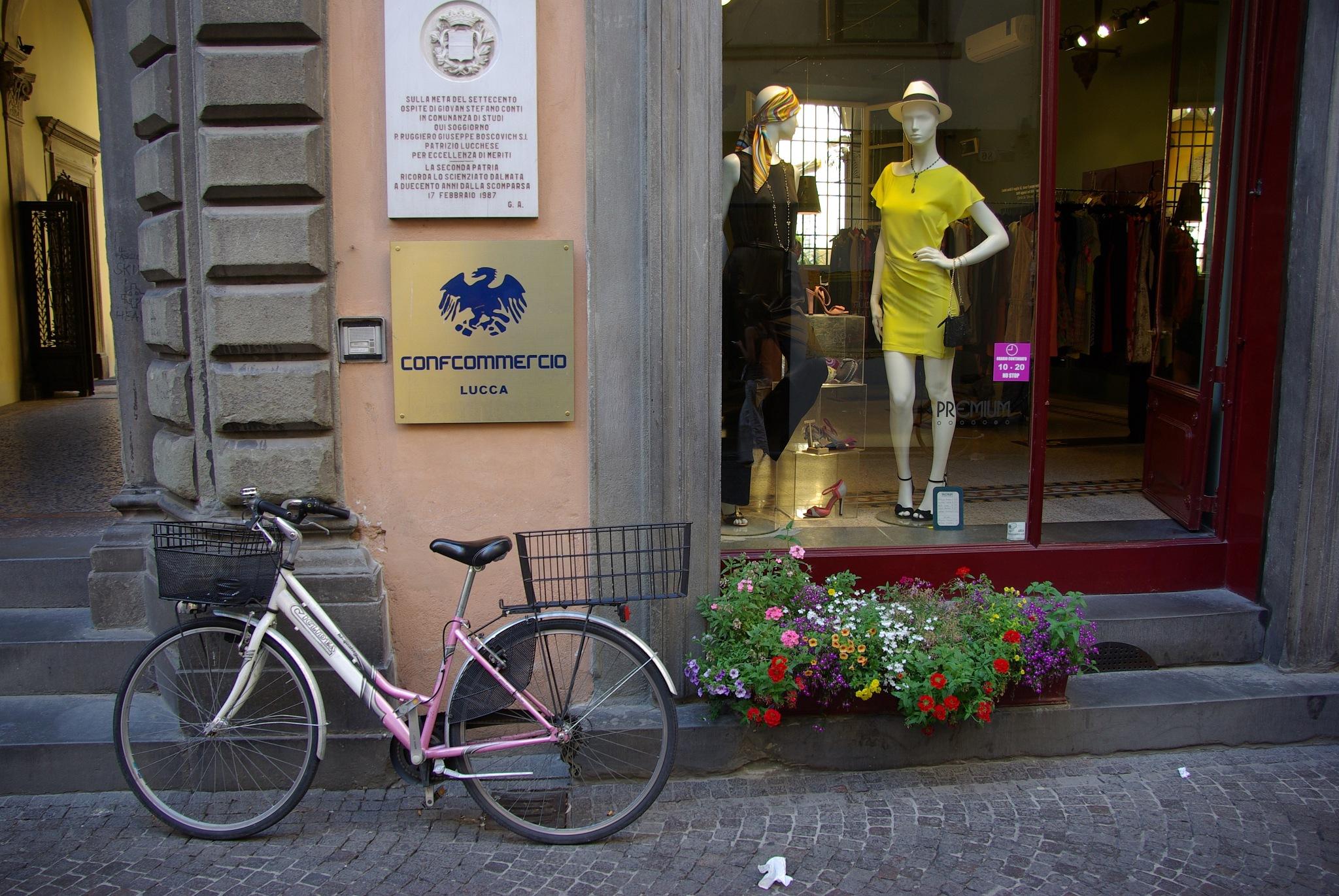 Lucca Street Scene by John Semple