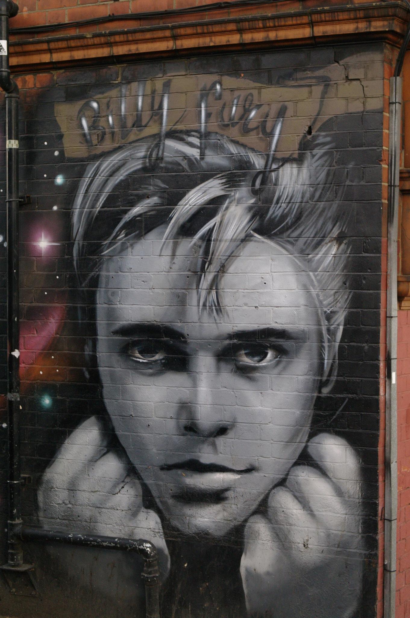 Billy Fury Mural  - West Hampstead London by John Semple