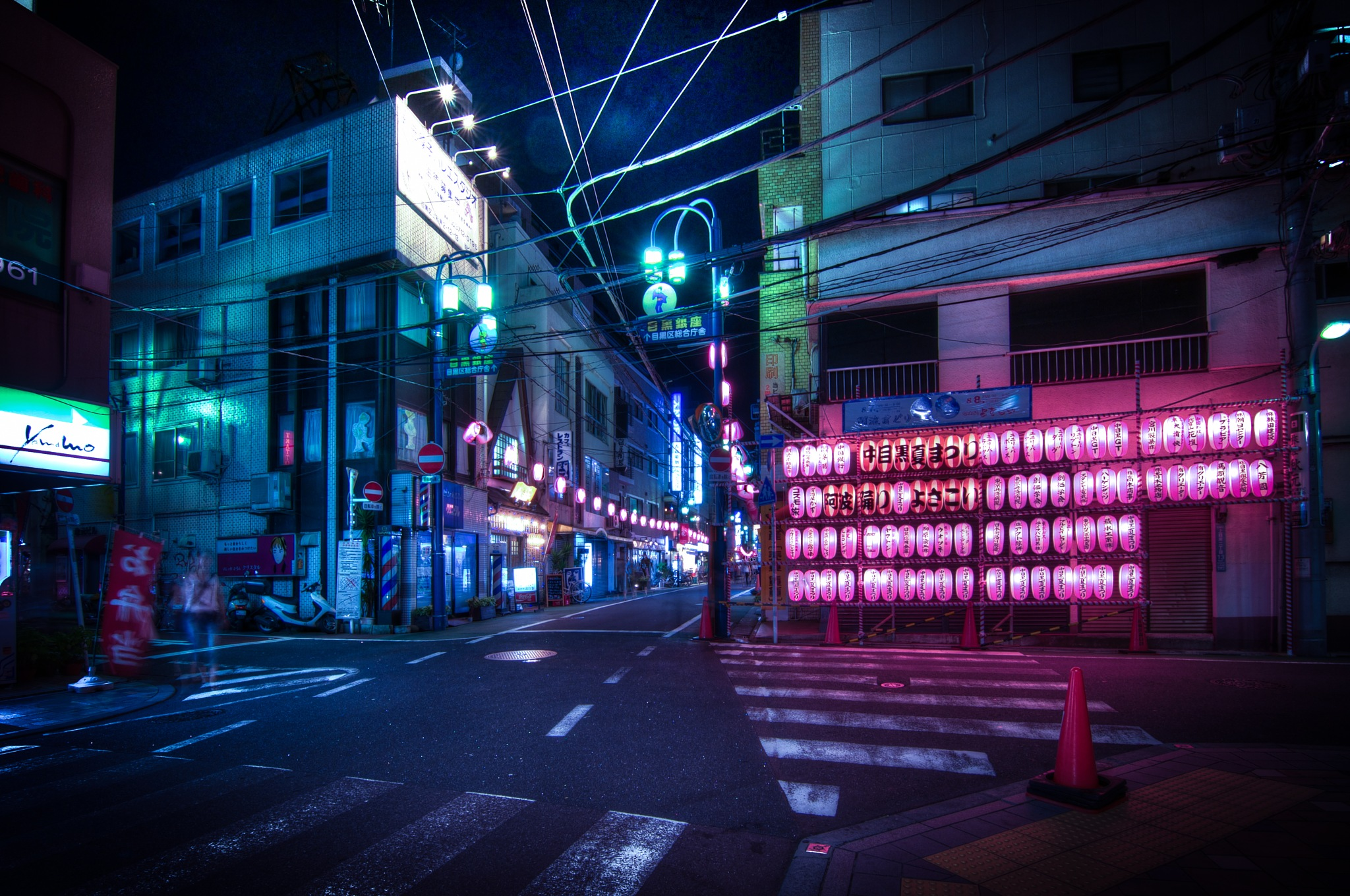 Nakameguro at night by Guillaume Marcotte