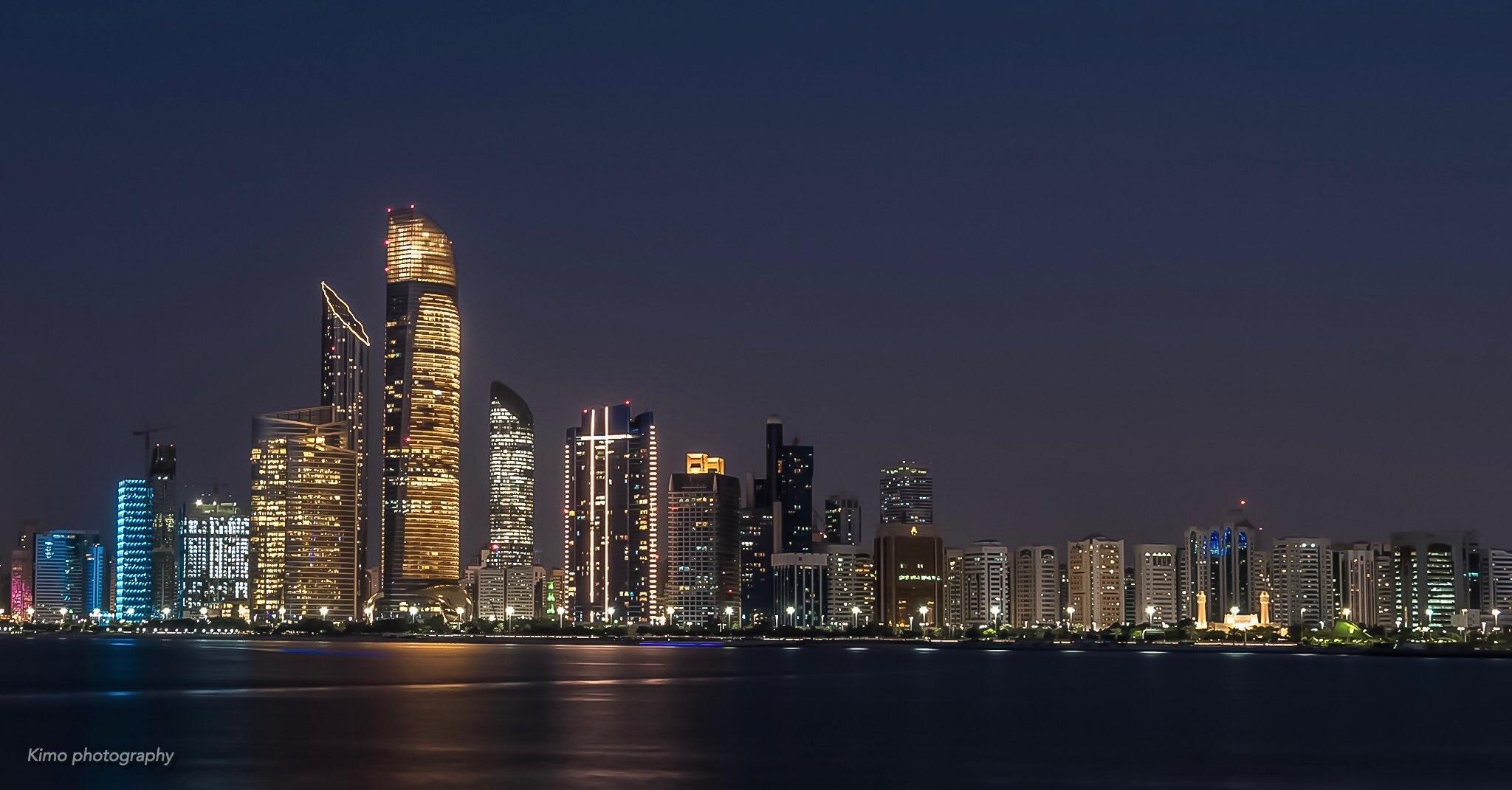 Abu Dhabi night  by Ahmed Kamal