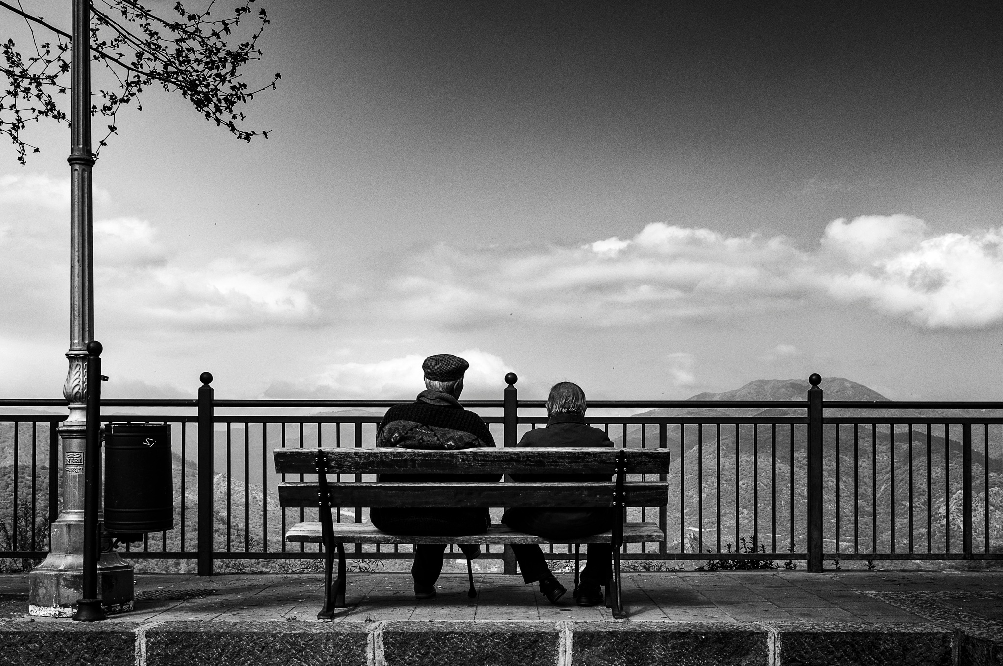 Old Men Waiting by Marian Hummel