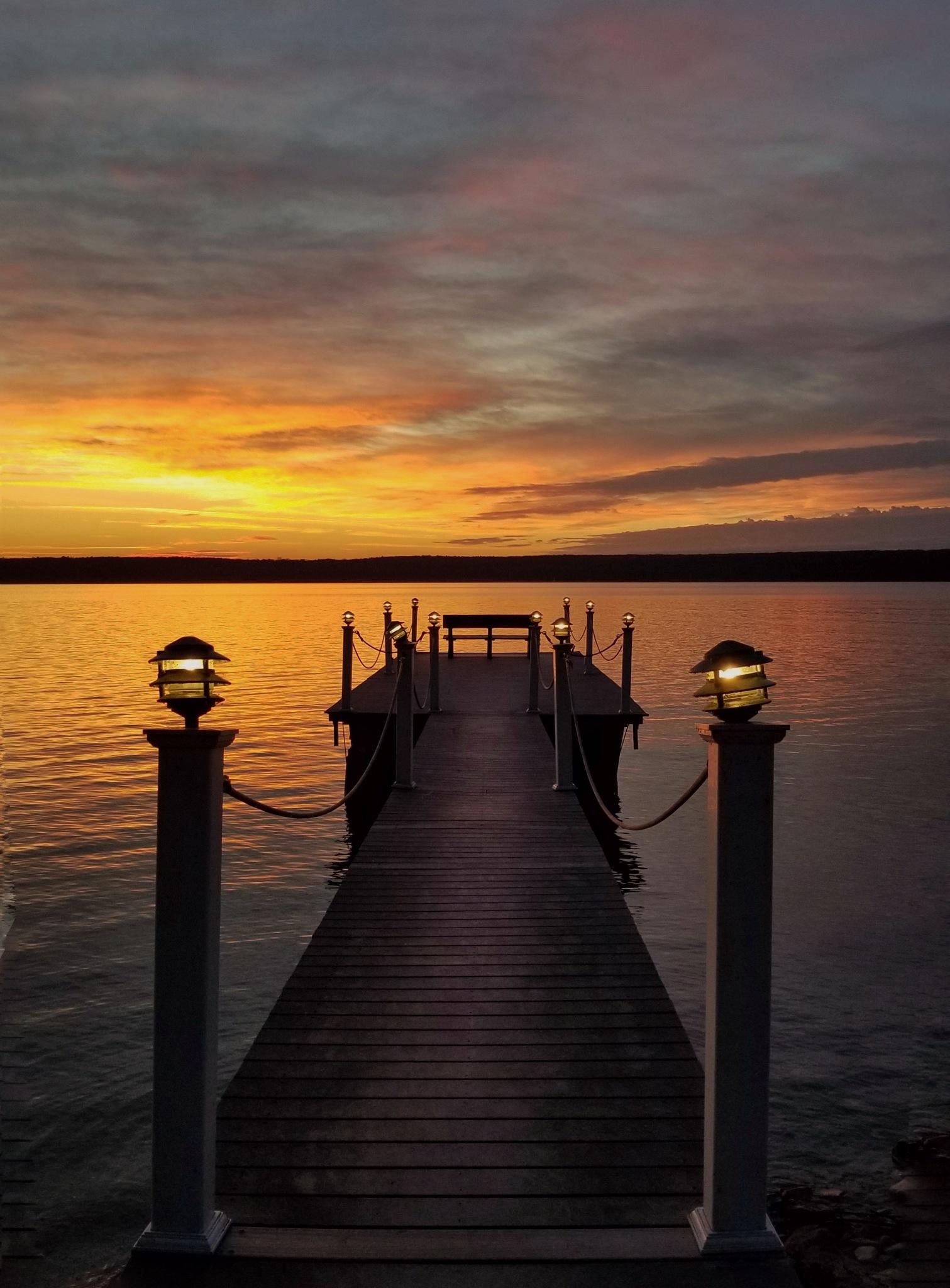 Door County Dock by Angie Simpson