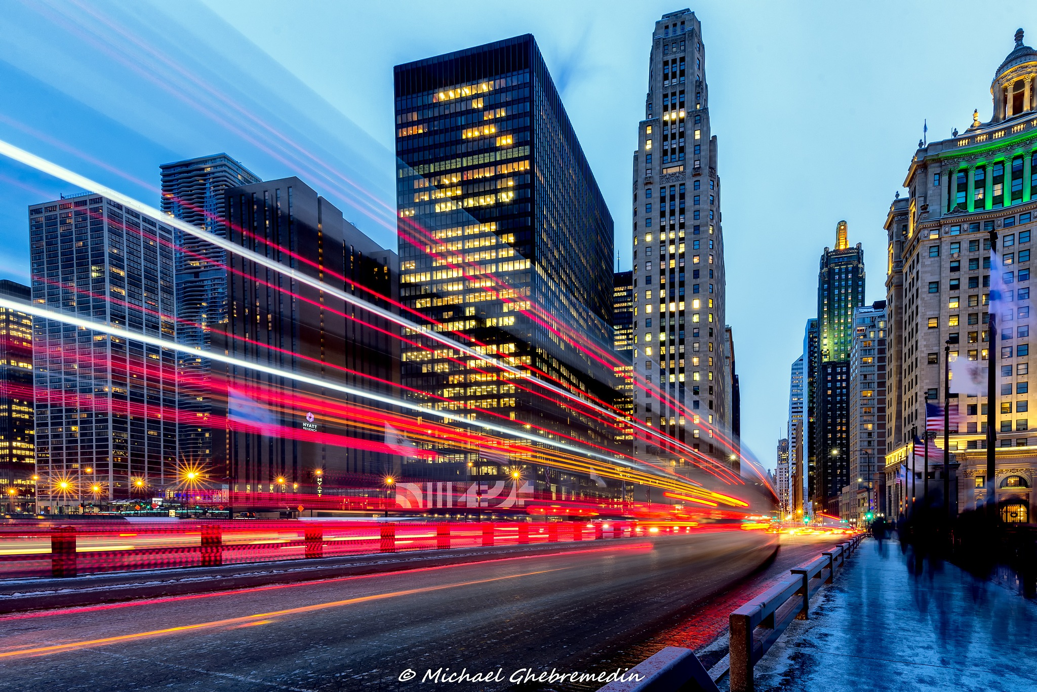 Magnificent Mile by Michael Ghebremedin