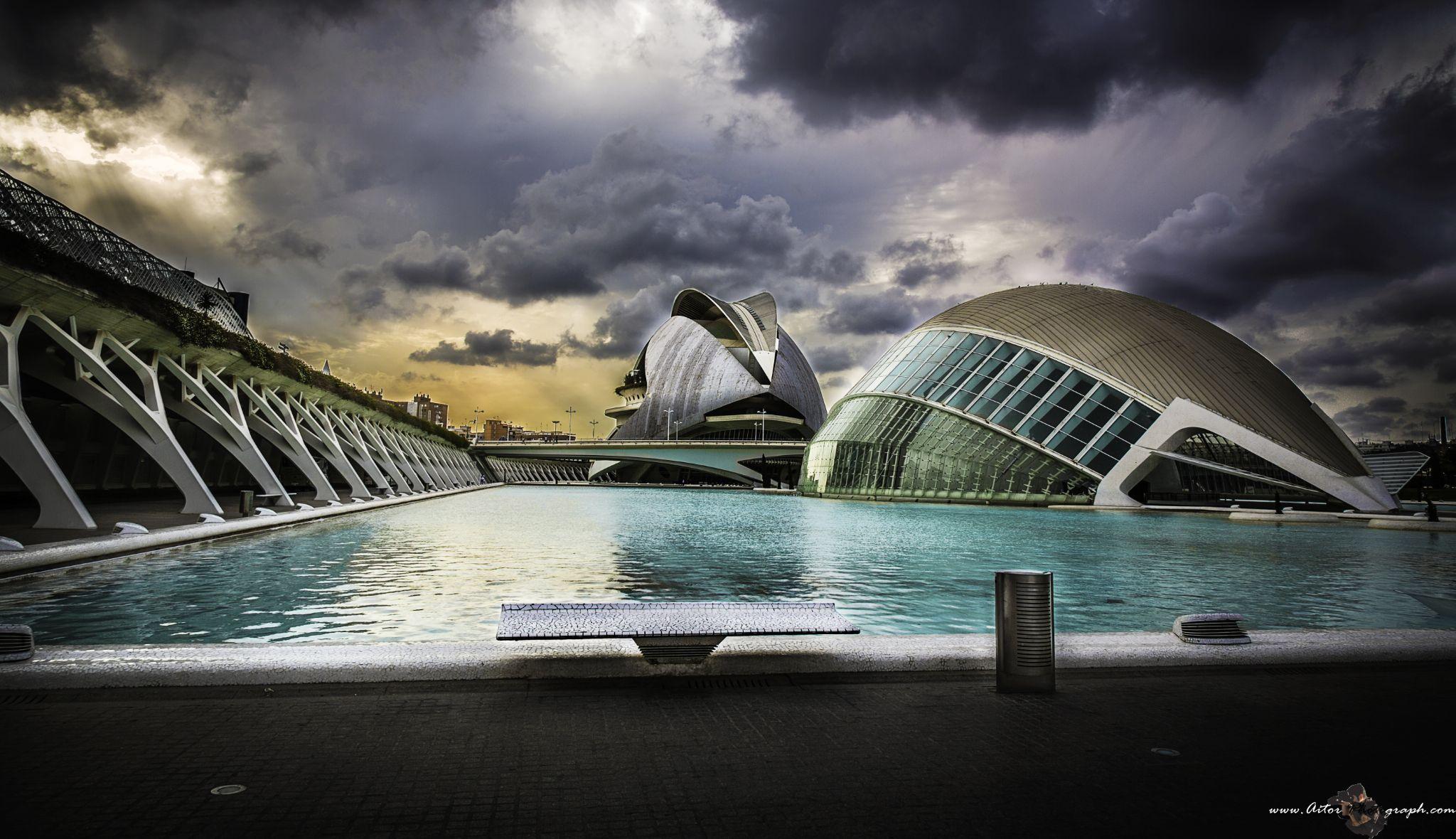 ciudad del Arte y Las ciencias by Aitor Photograph