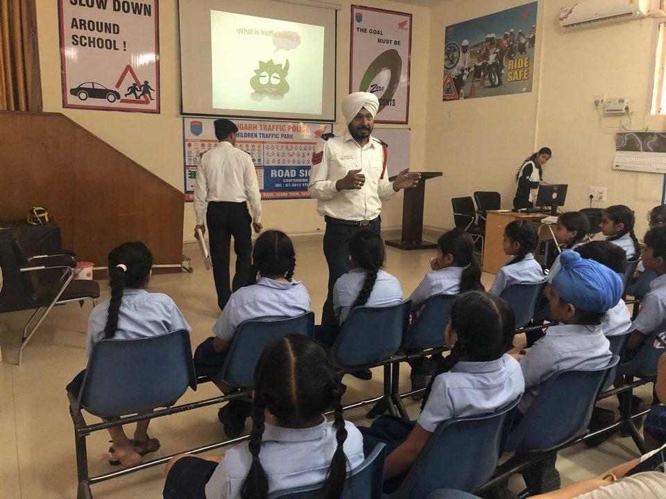 Visit to Traffic Park | Best Mohali CBSE School by Gurukul World School