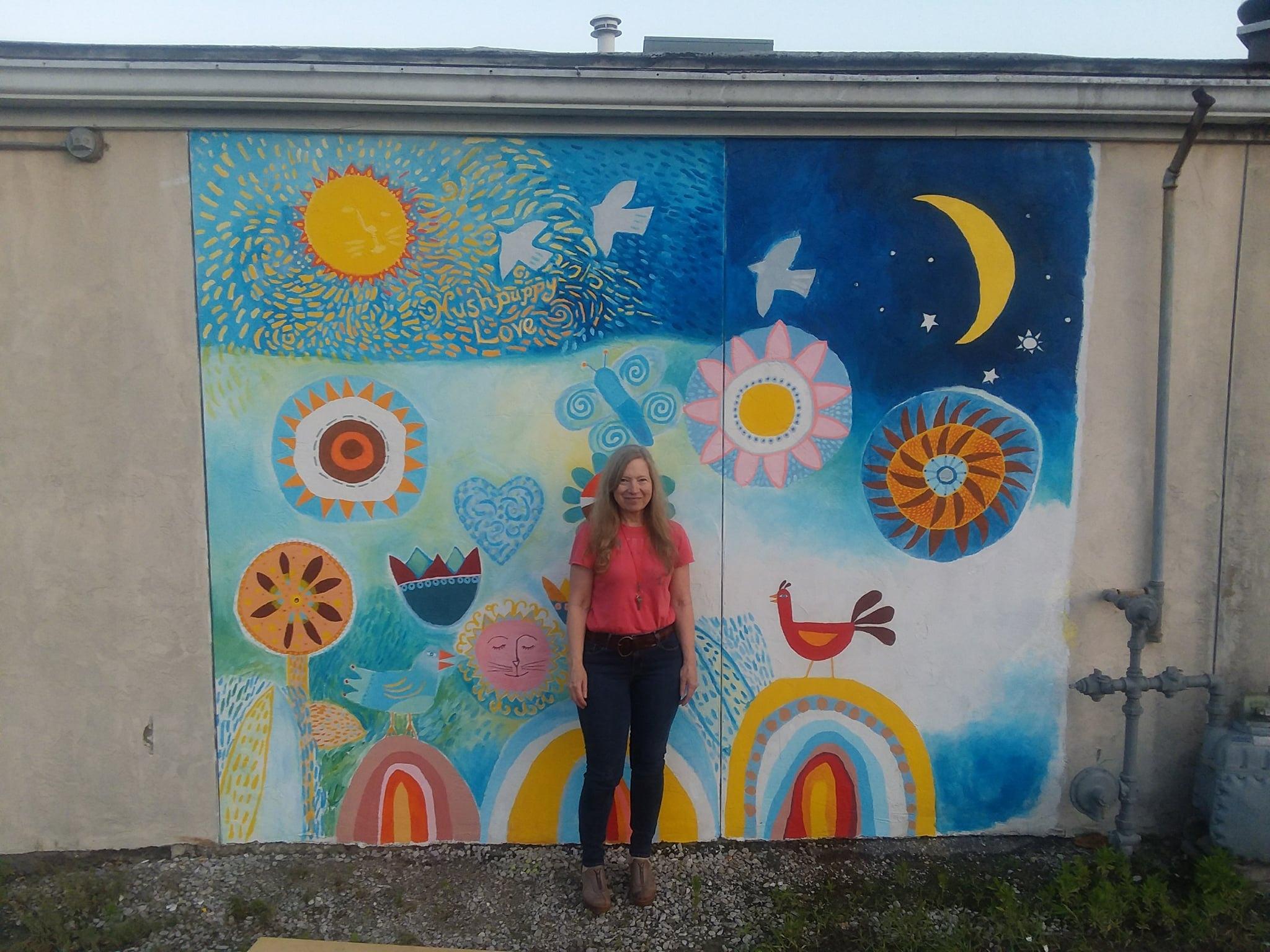 my first mural by Nancy Marie Davis