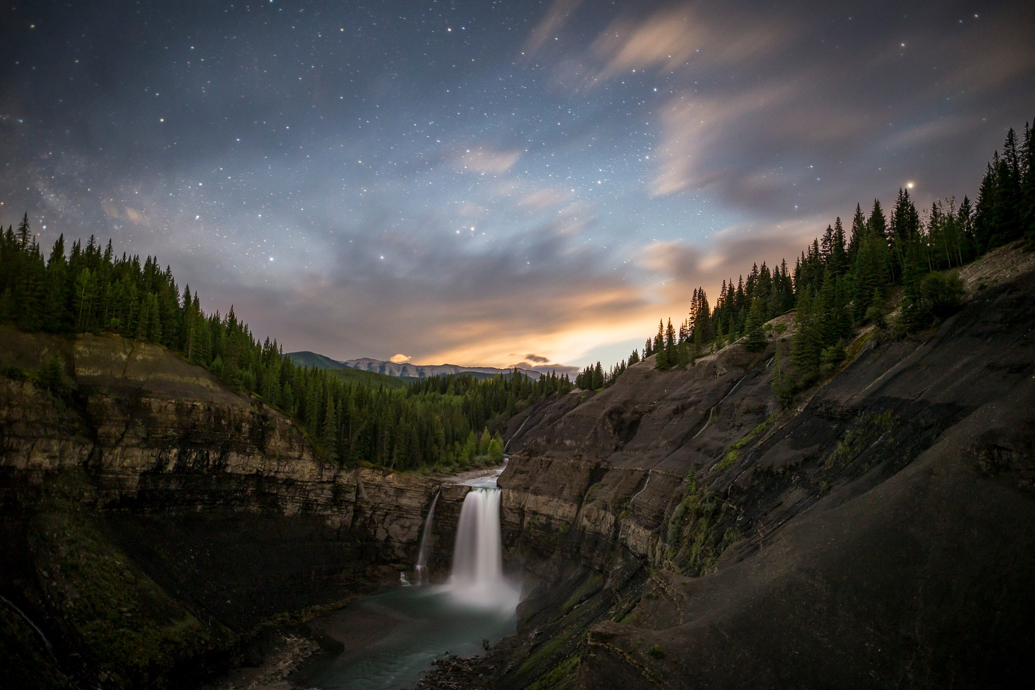 Ram Falls by Star Light by Logan Evans