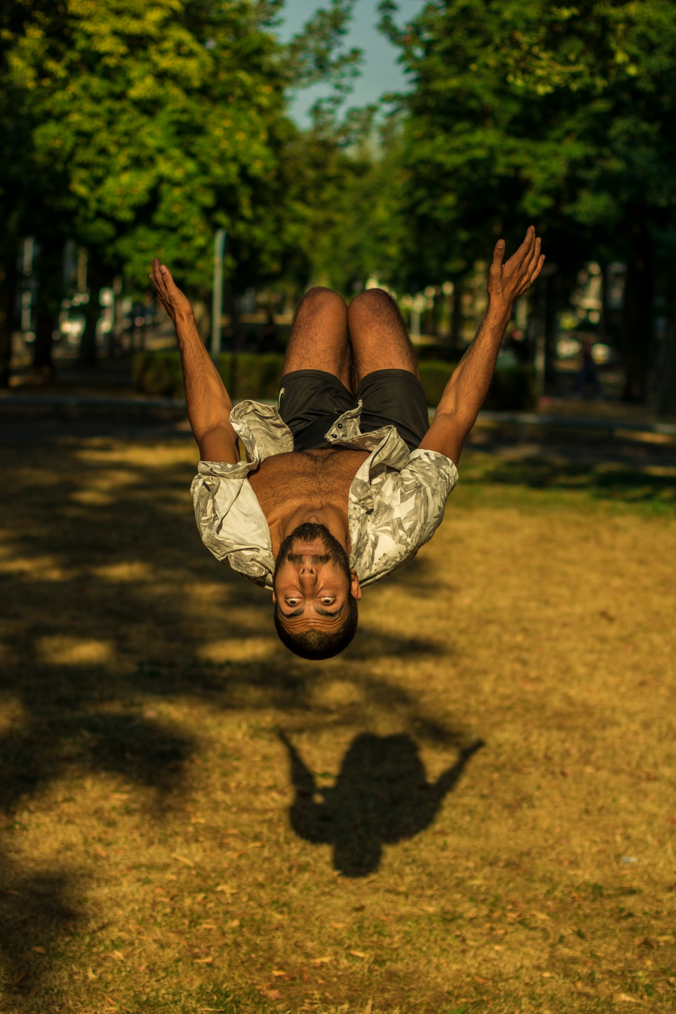 Kevin doing a backflip. by Ward Kuipers