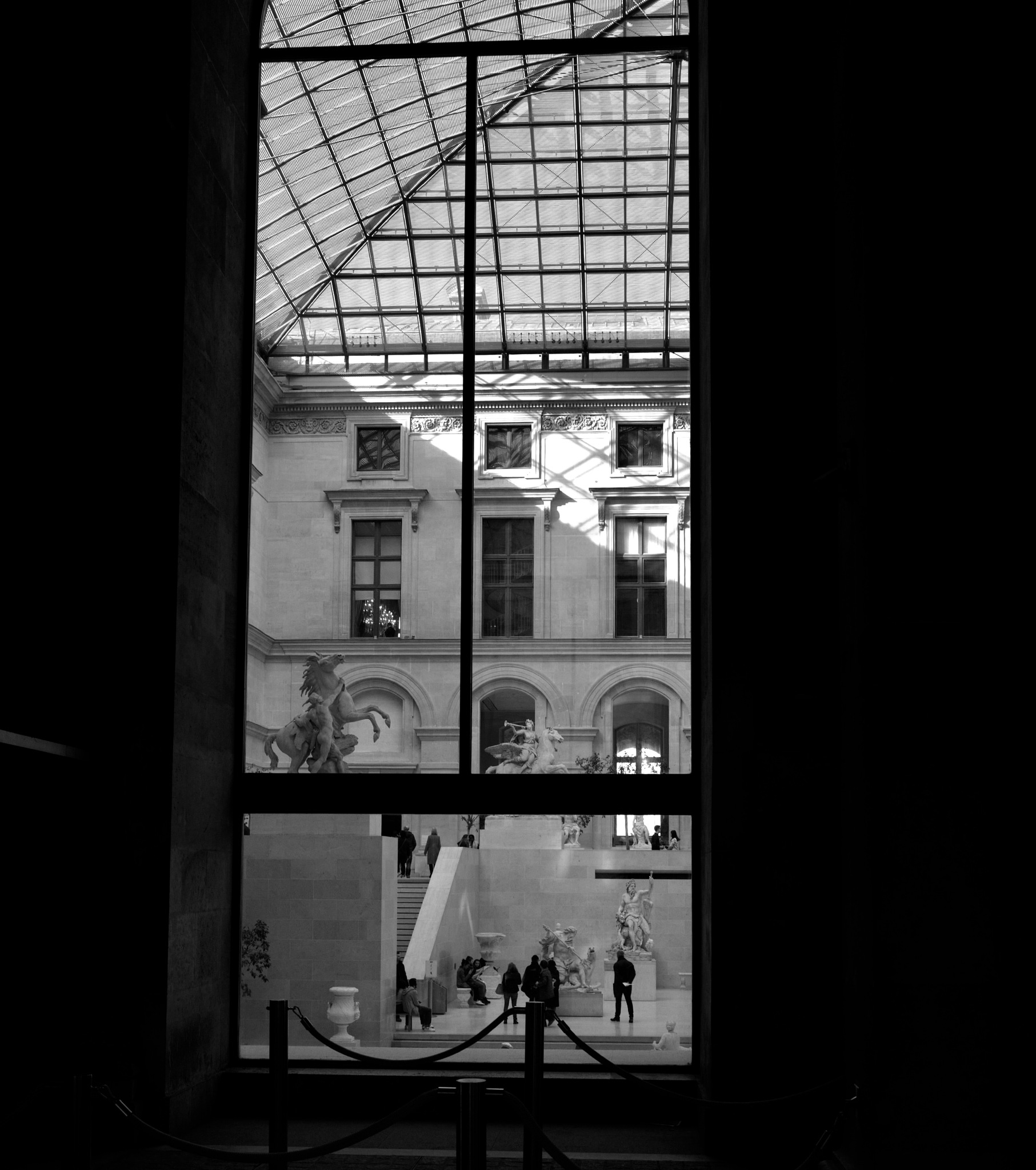 Photo in Random #black and white #museum #louvre
