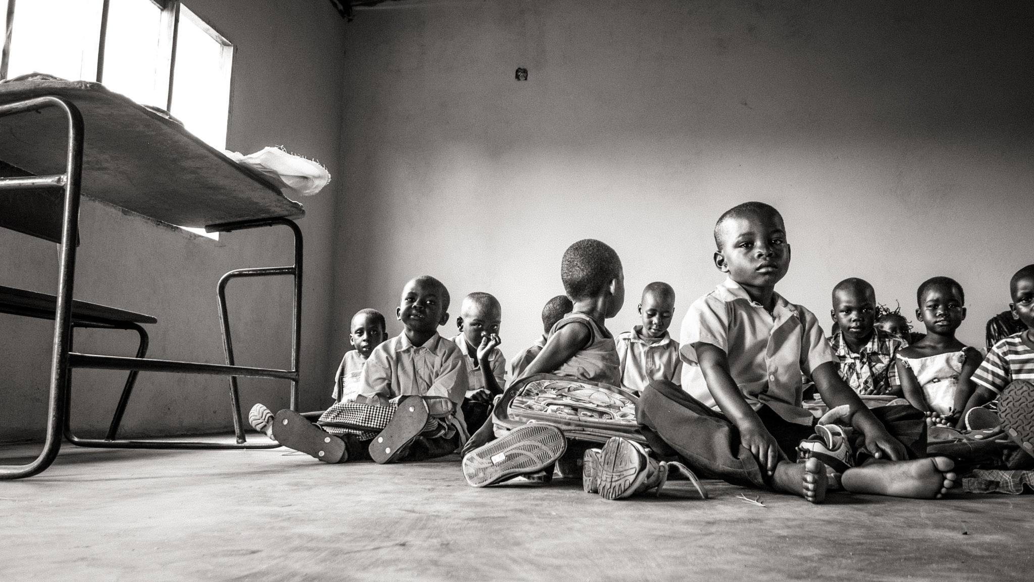 No chairs for school boys by Sean Braff