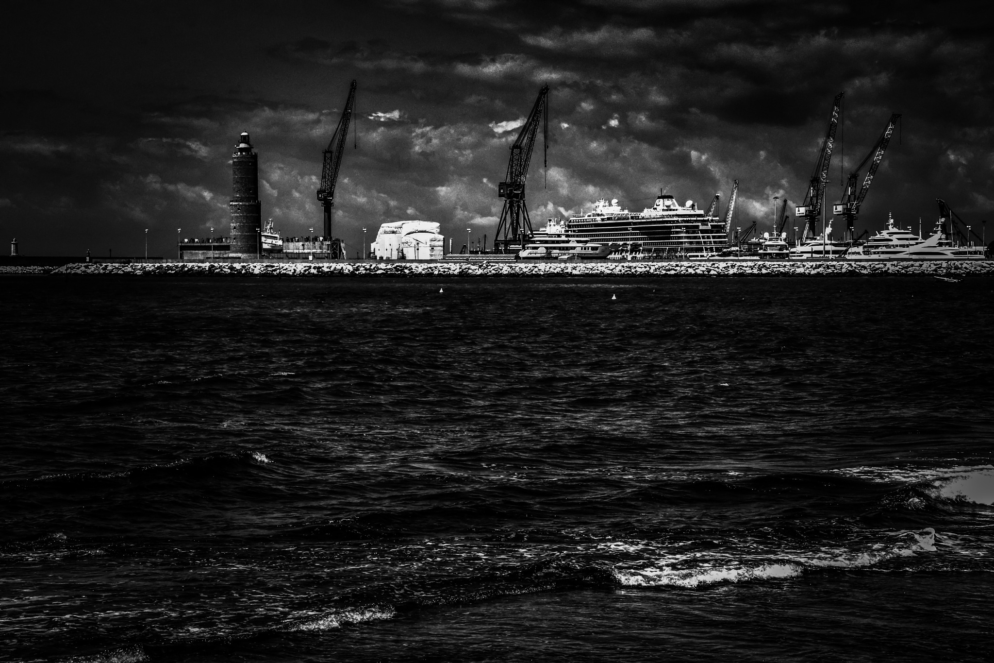 The harbor by Bambas Michael