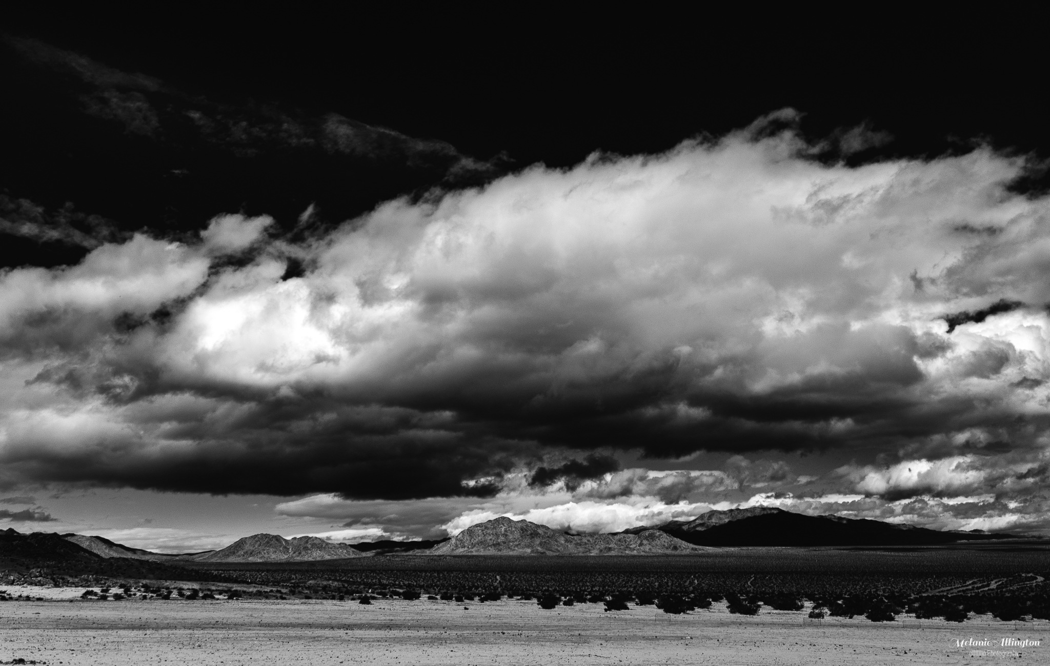 Photo in Black and White #black and white photography #black and white landscape #black and white #landscape #desert #cloud #weather #nature #mountains #storm #dramatic #monochrome