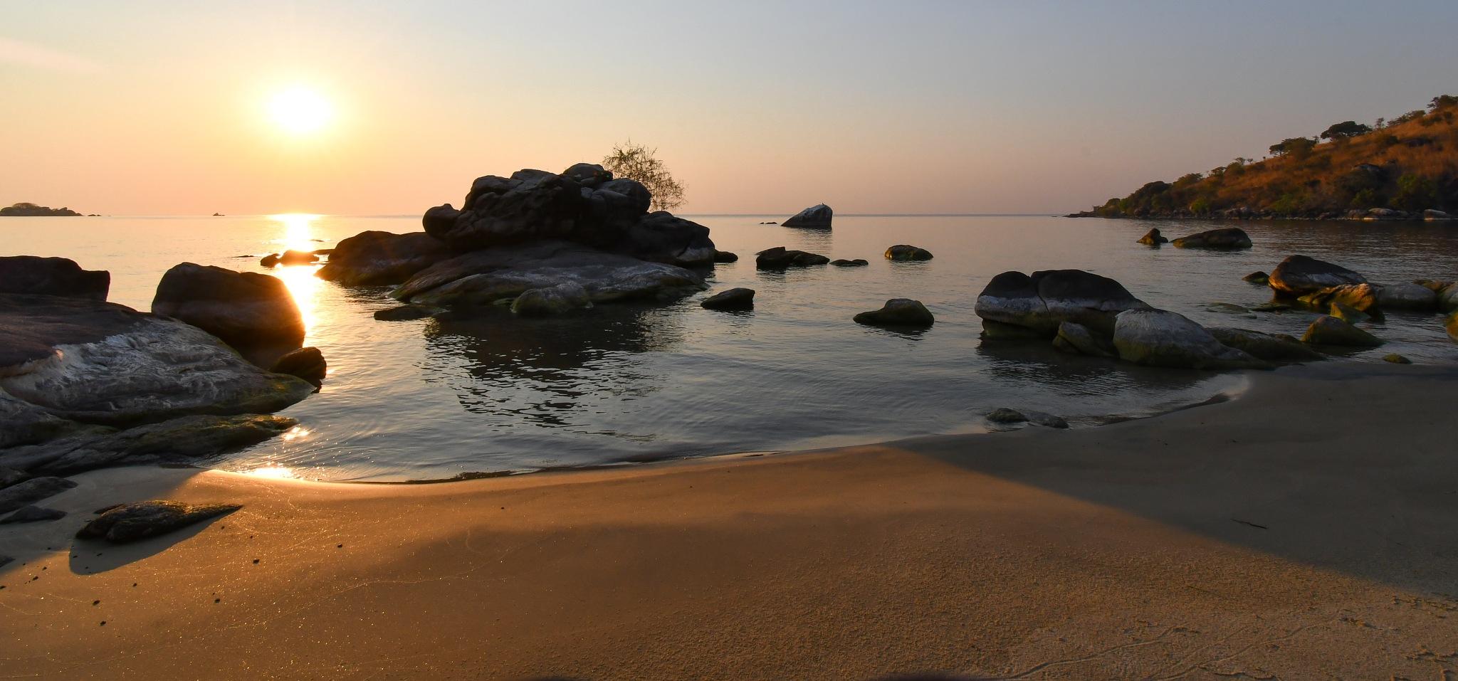 Sunrise over Lake Malawi by Peter Schuppli