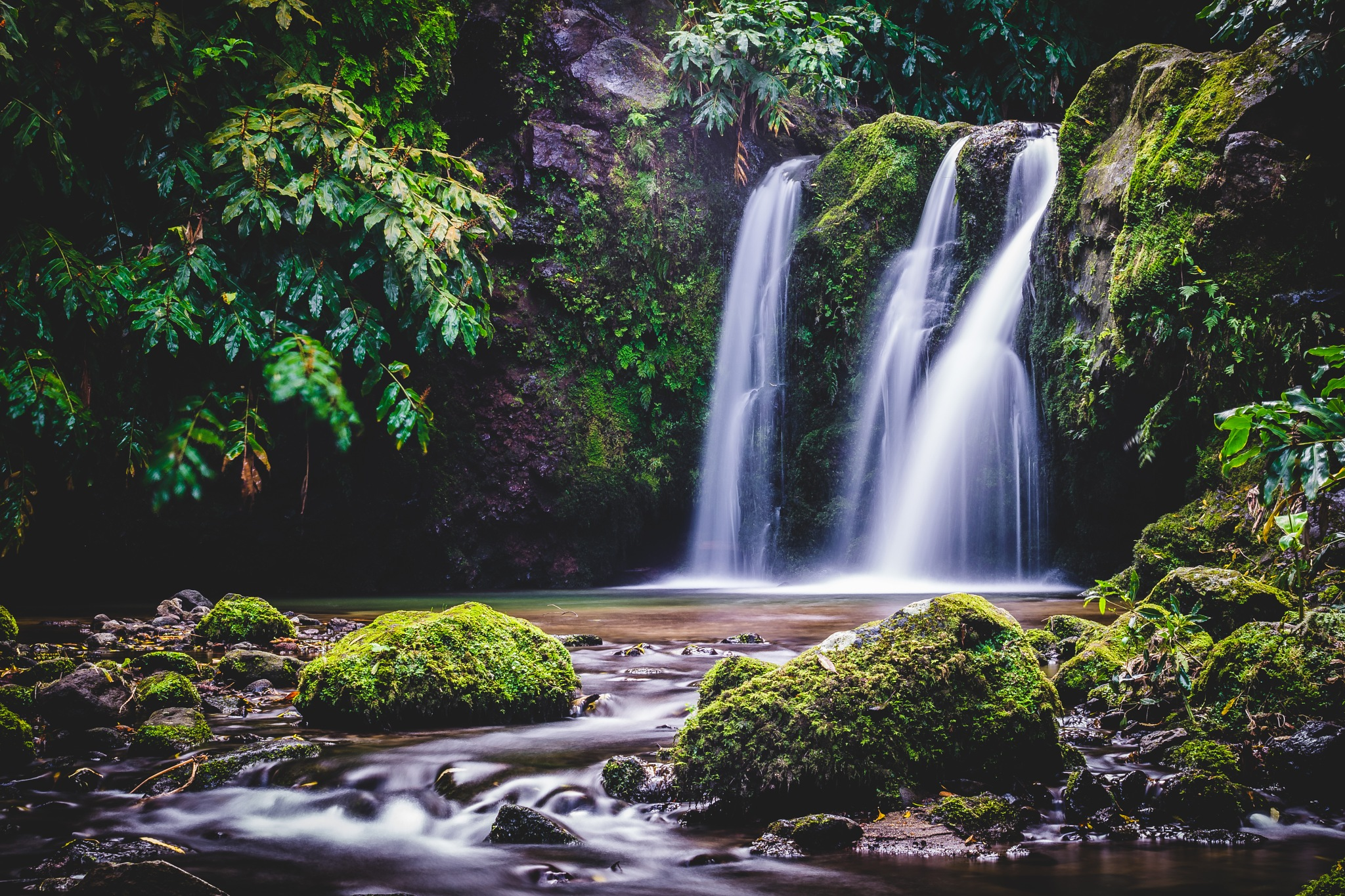 Photo in Nature #waterfall #azores #nature #water #long exposition #long exposure