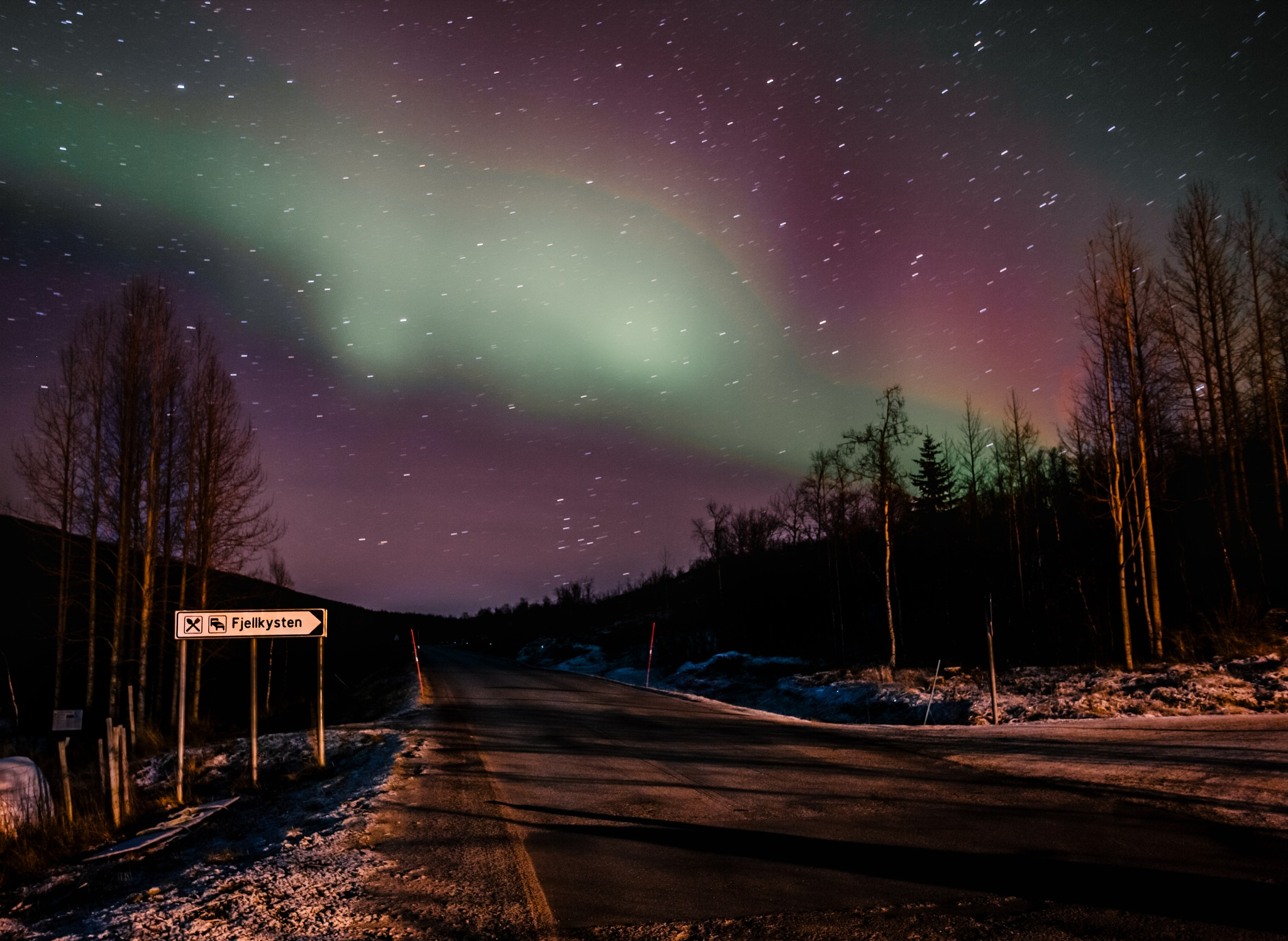 Photo in Astrophotography #norway #northern lights #astrophotography #night photography #travel #traveler #road trip