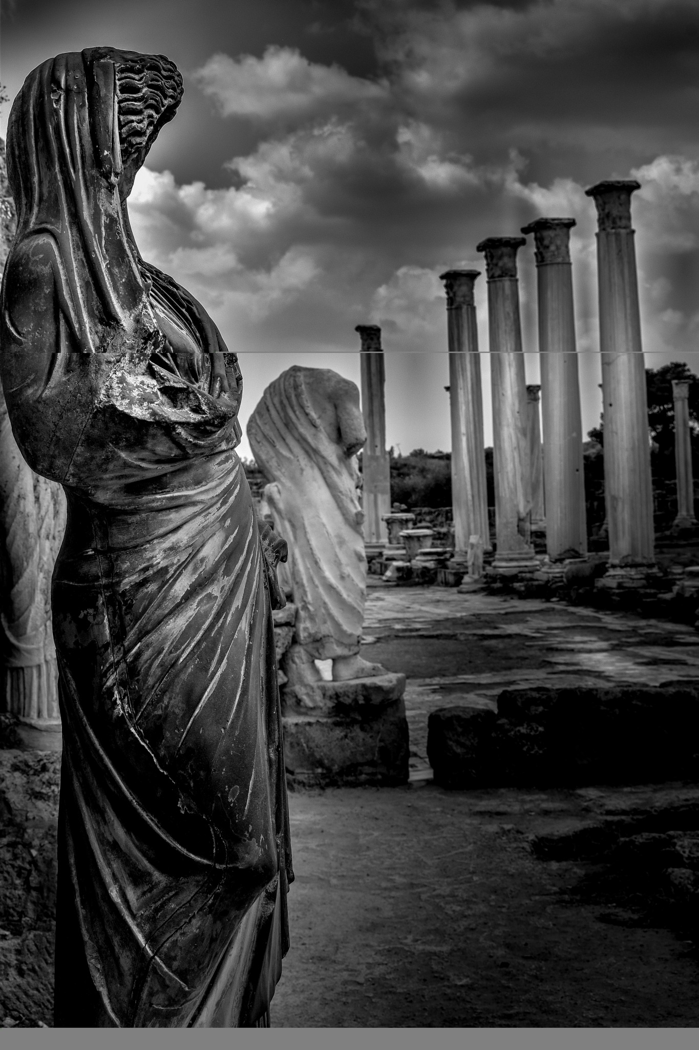 Roman ruins by Stephen Baker