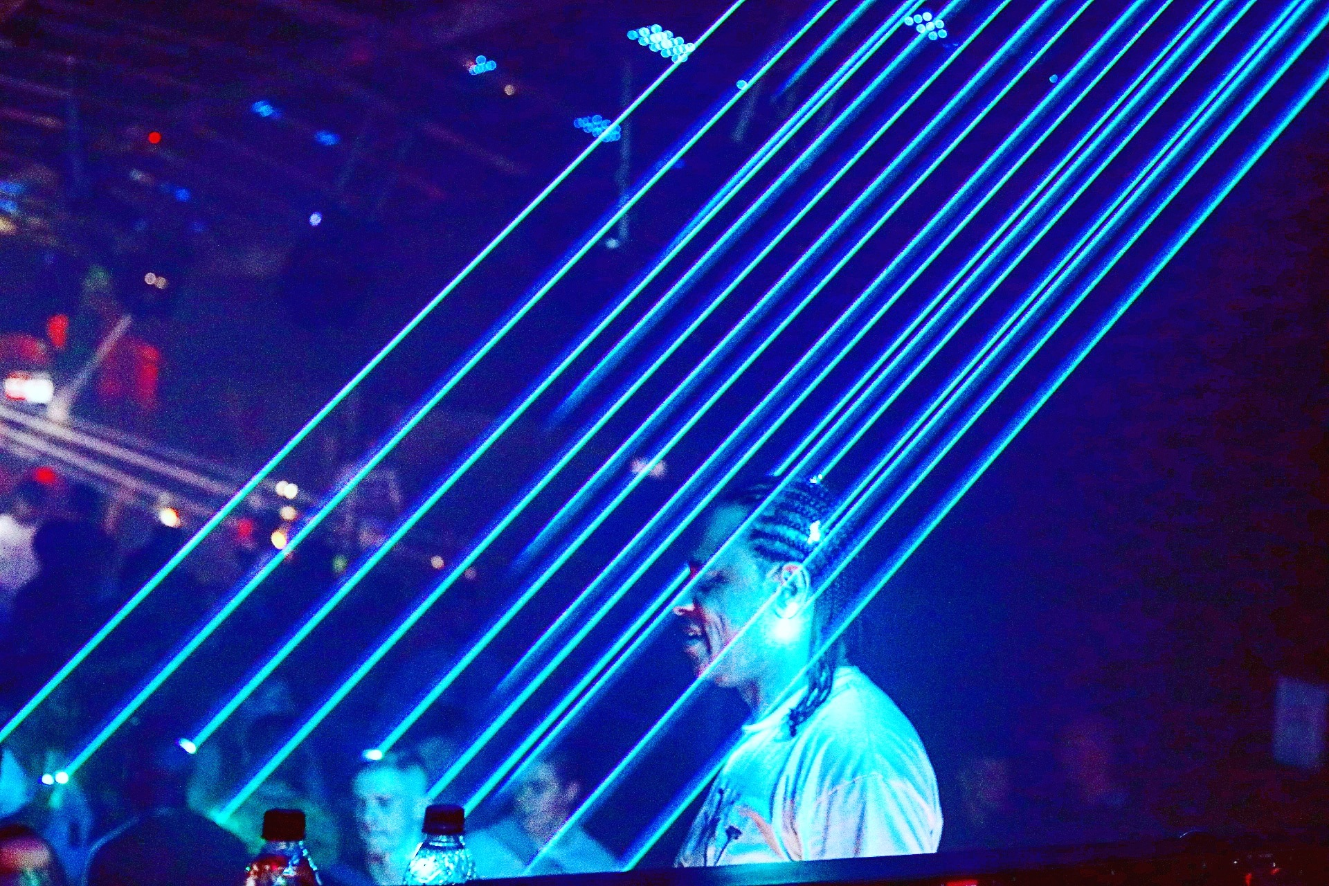 Raining with lazers by Ben Clements
